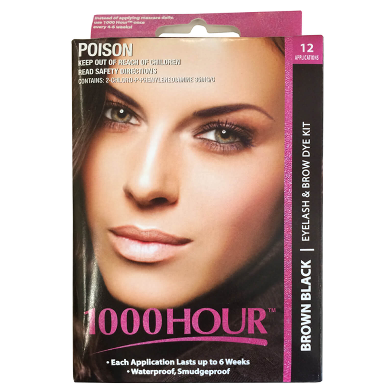 1000 Hour Eyelash & Brow Dye Kit - Brown Black