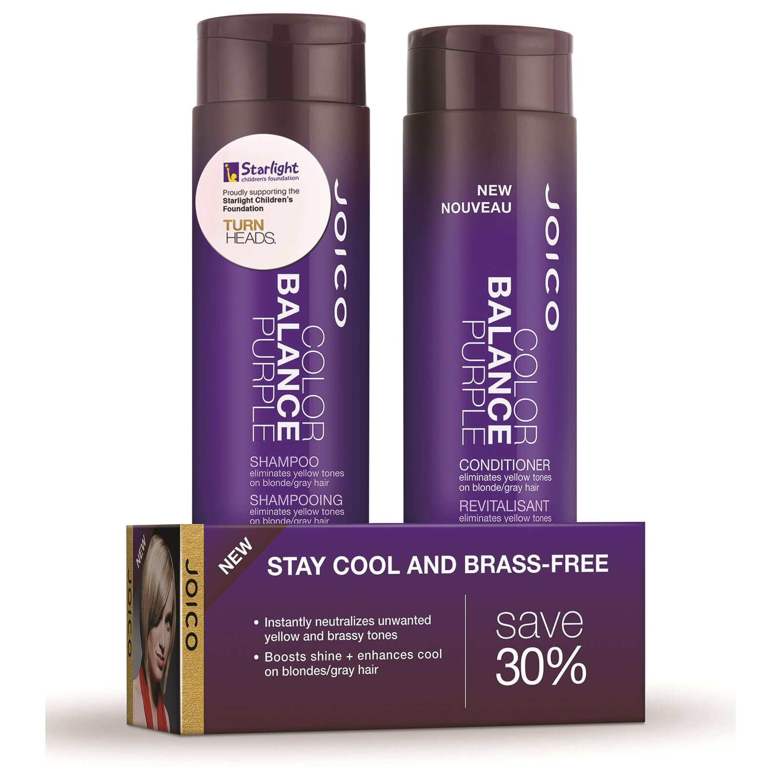 Joico Color Balance Purple Shampoo And Conditioner Duo Pack 2 x 300ml