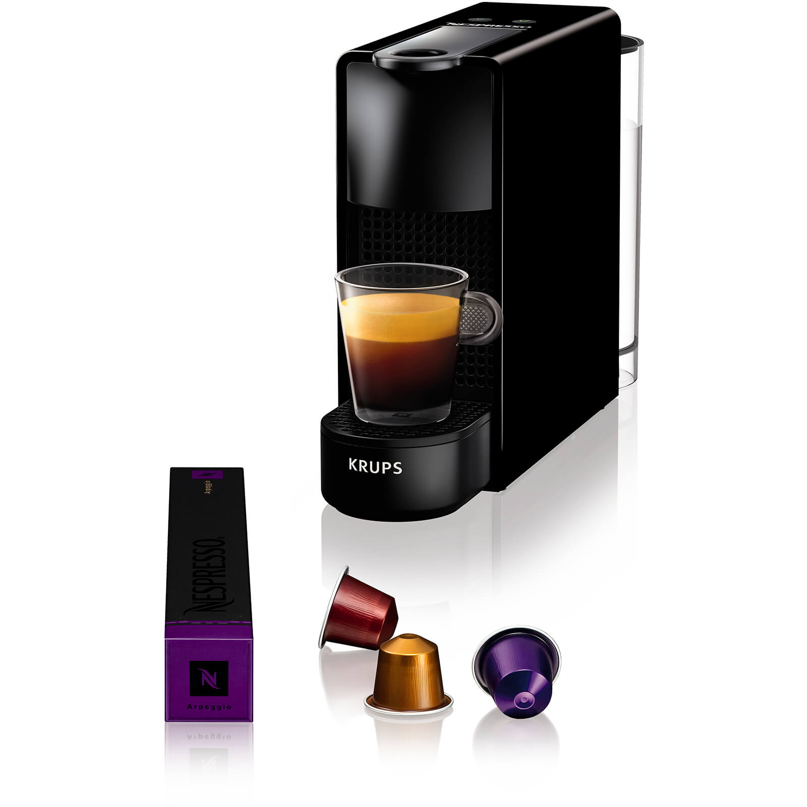 Nespresso by KRUPS XN110840 Essenza Mini Coffee Machine - Piano Black