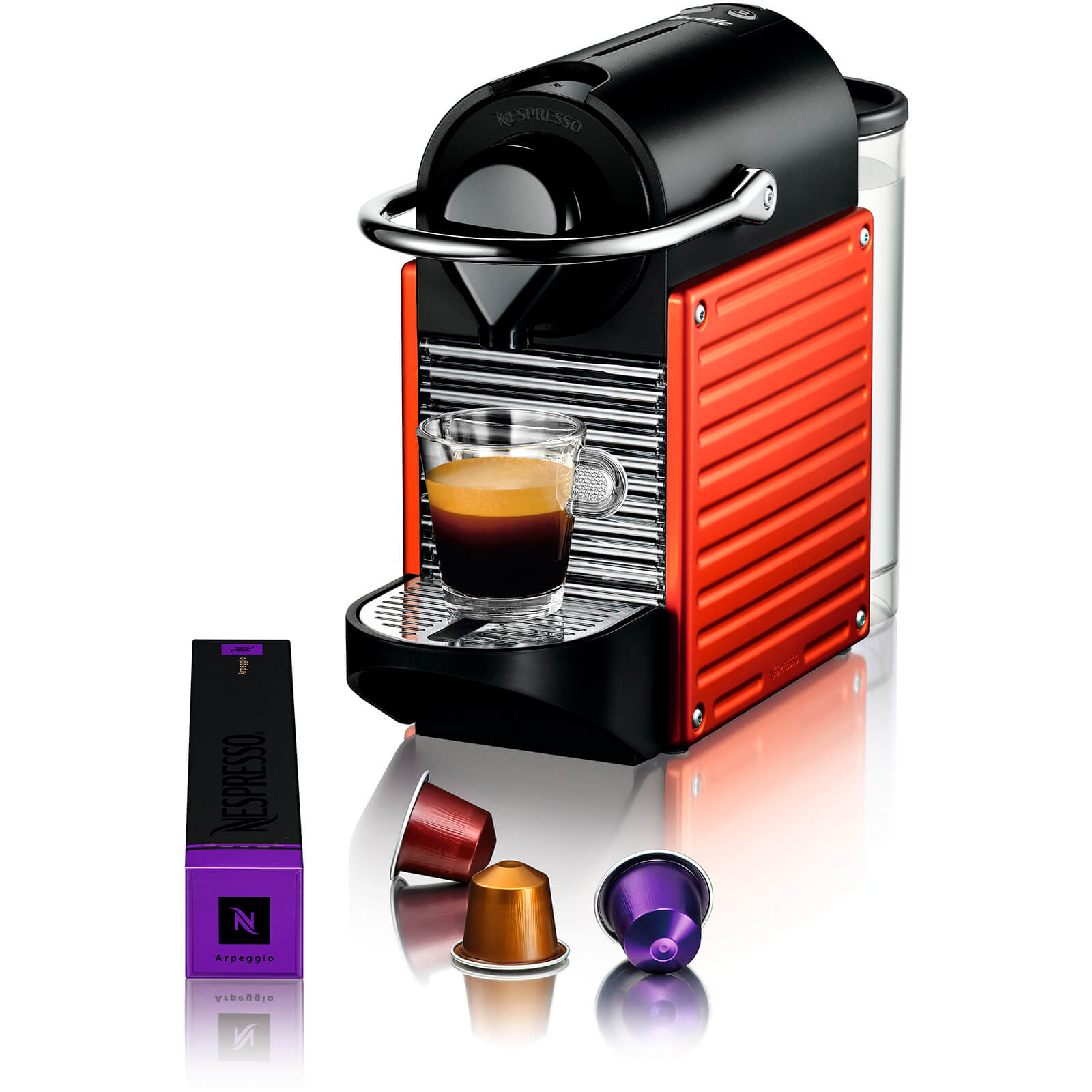 Nespresso by KRUPS XN300640 Pixie Coffee Machine - Red