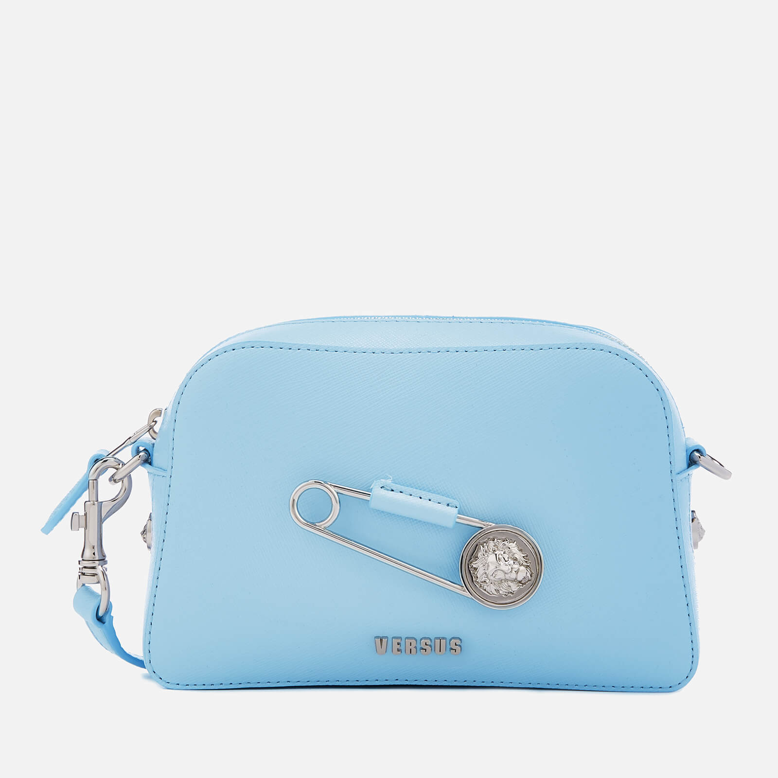 ecc5178ac0 Versus Versace Women s Safety Pin Small Cross Body Bag - Light Blue - Free  UK Delivery over £50
