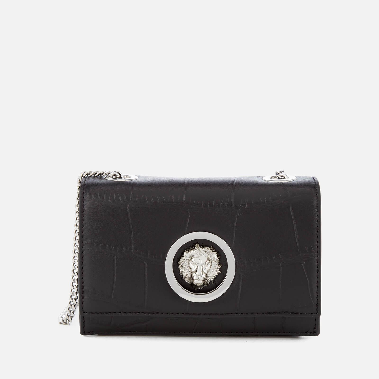 0a5bc4b0b6 Versus Versace Women's Lion Croc Small Clutch Bag - Black