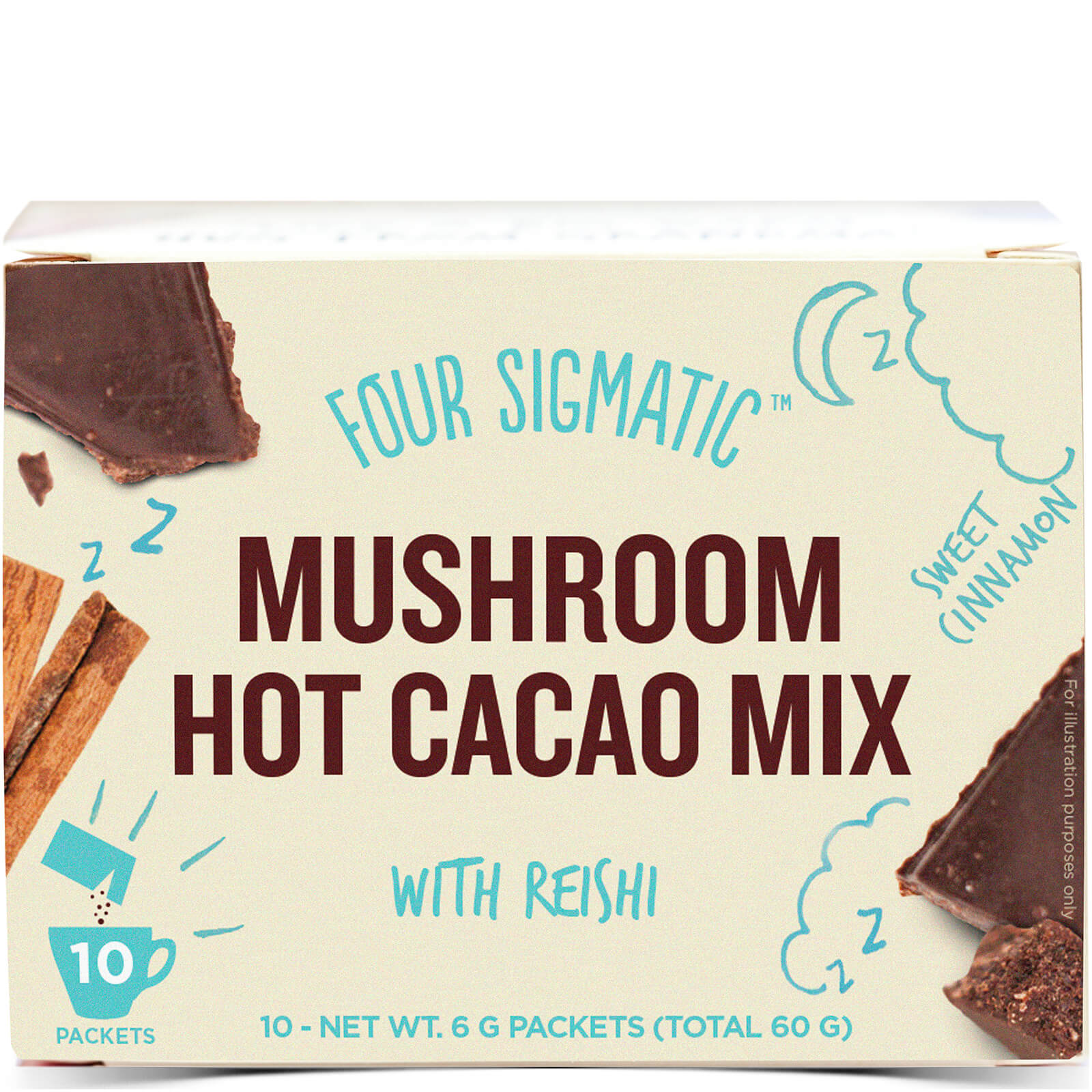 Four Sigmatic Mushroom Hot Cacao Reishi Mix (10 Sachets)