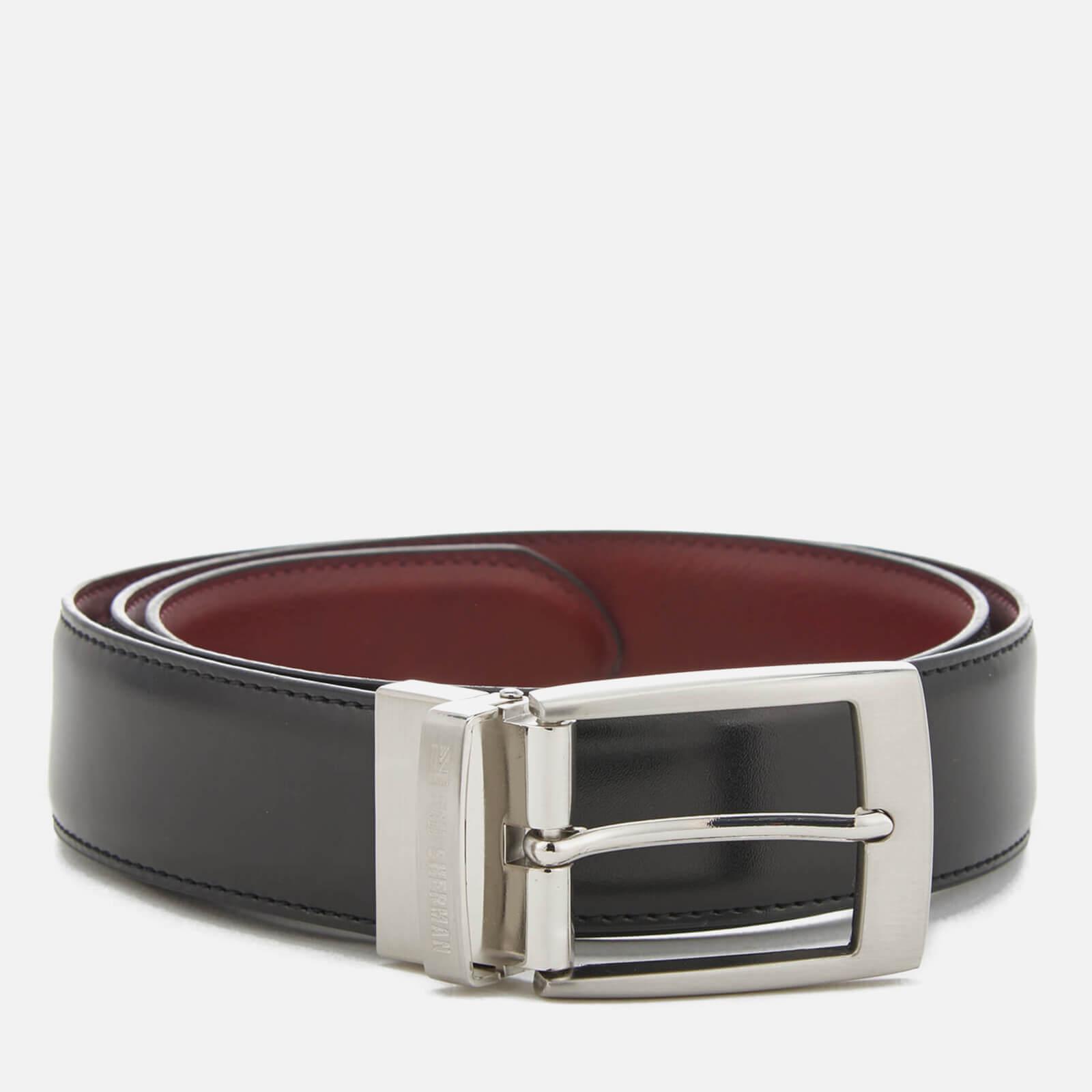 5477946cc58c Ben Sherman Men's Sloane Reversible Belt - Black/Oxblood. Description