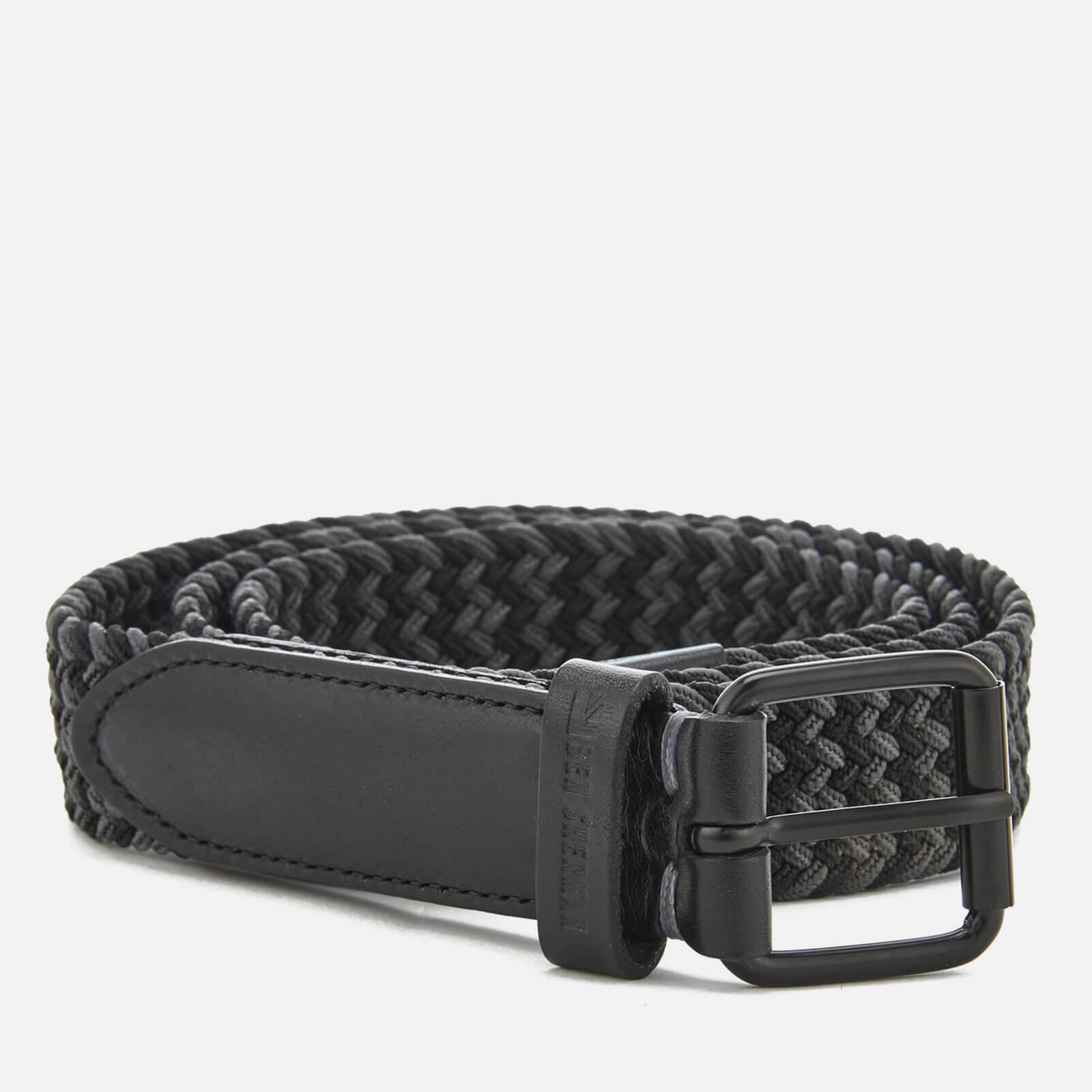 42dacb721e0f Ben Sherman Men's Barbican Plaited Belt - Black/Grey Mens ...