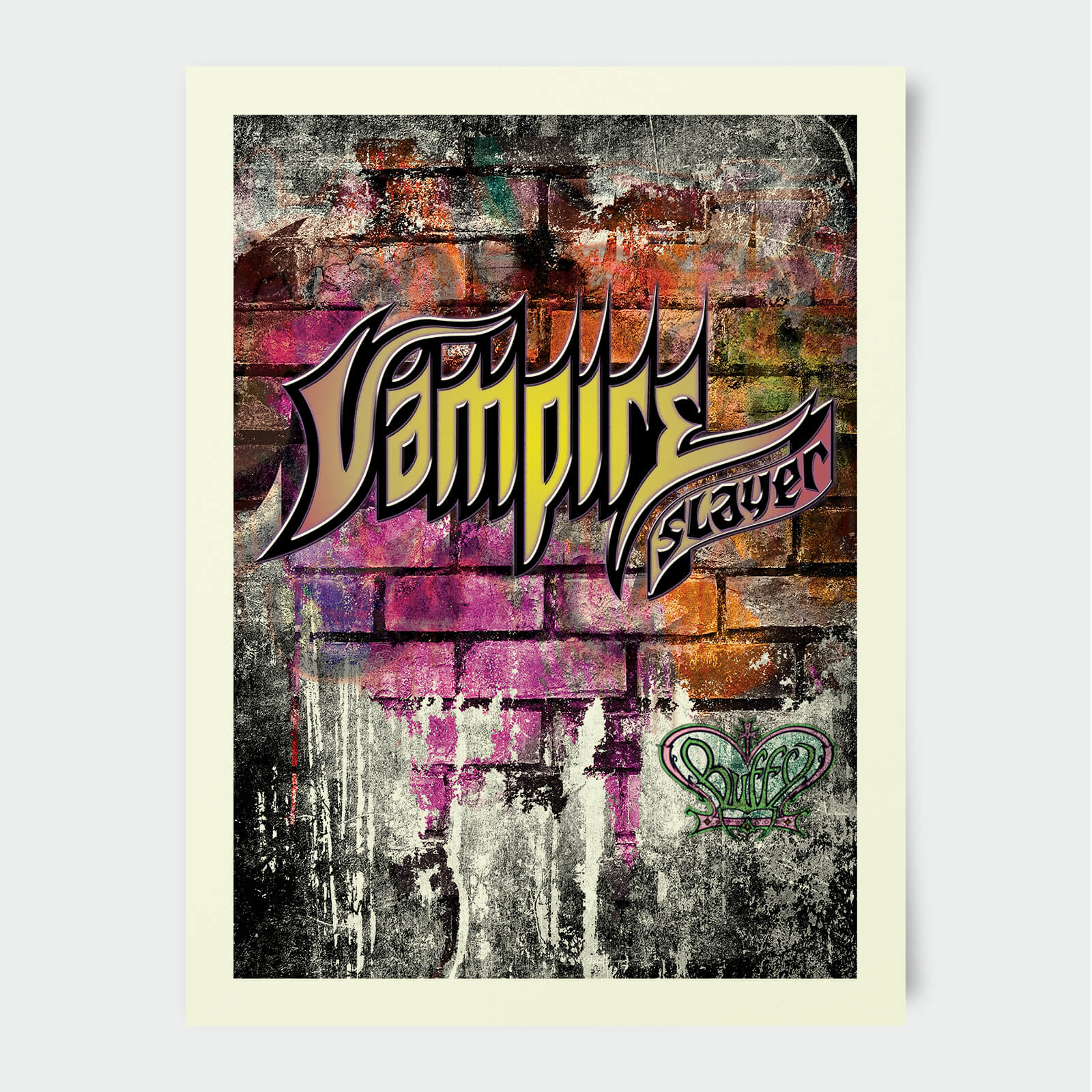 Buffy The Vampire Slayer Vampire Slayer Graffitti 30x40cm Print