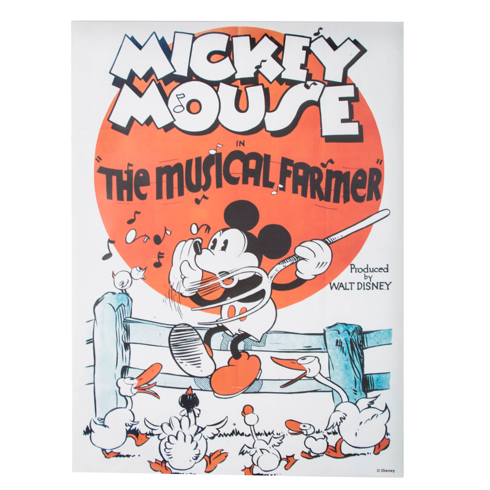 Disney Mickey Musical Farmer Printed Canvas Wall Art