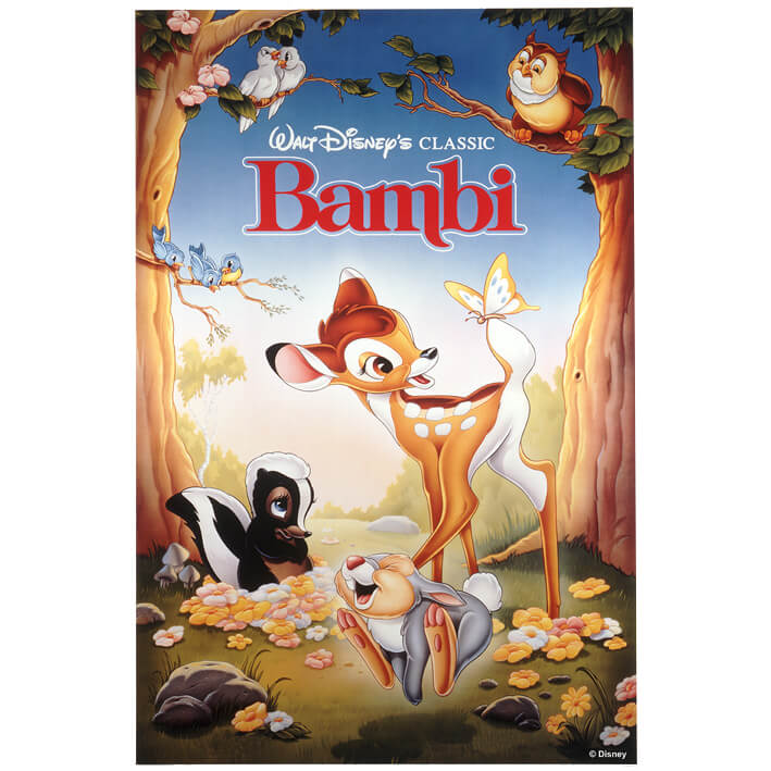 Disney Bambi 1988 Printed Canvas Wall Art