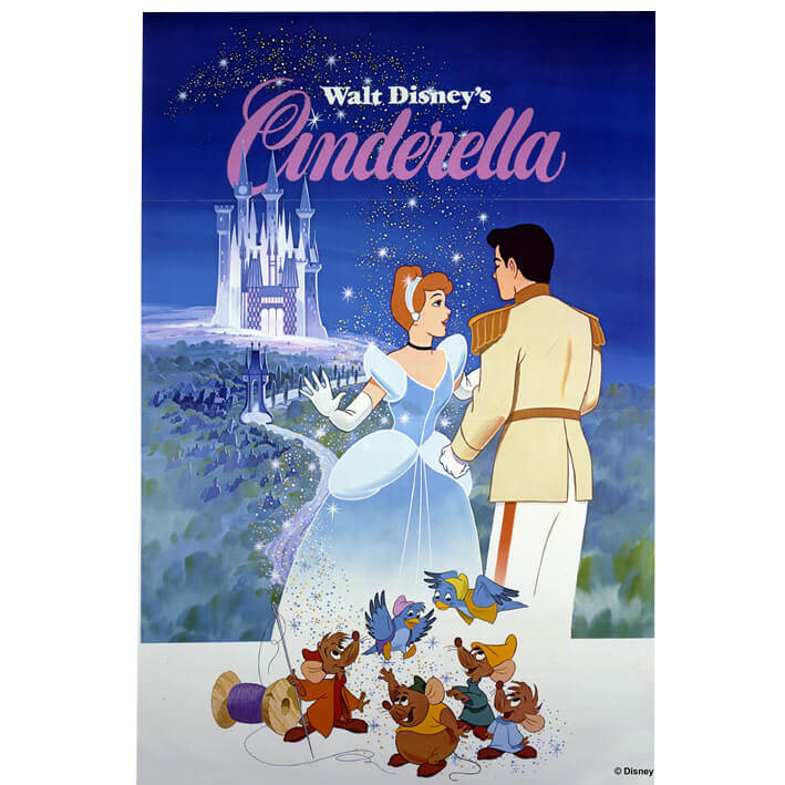 Disney Cinderella 1981 Printed Canvas Wall Art