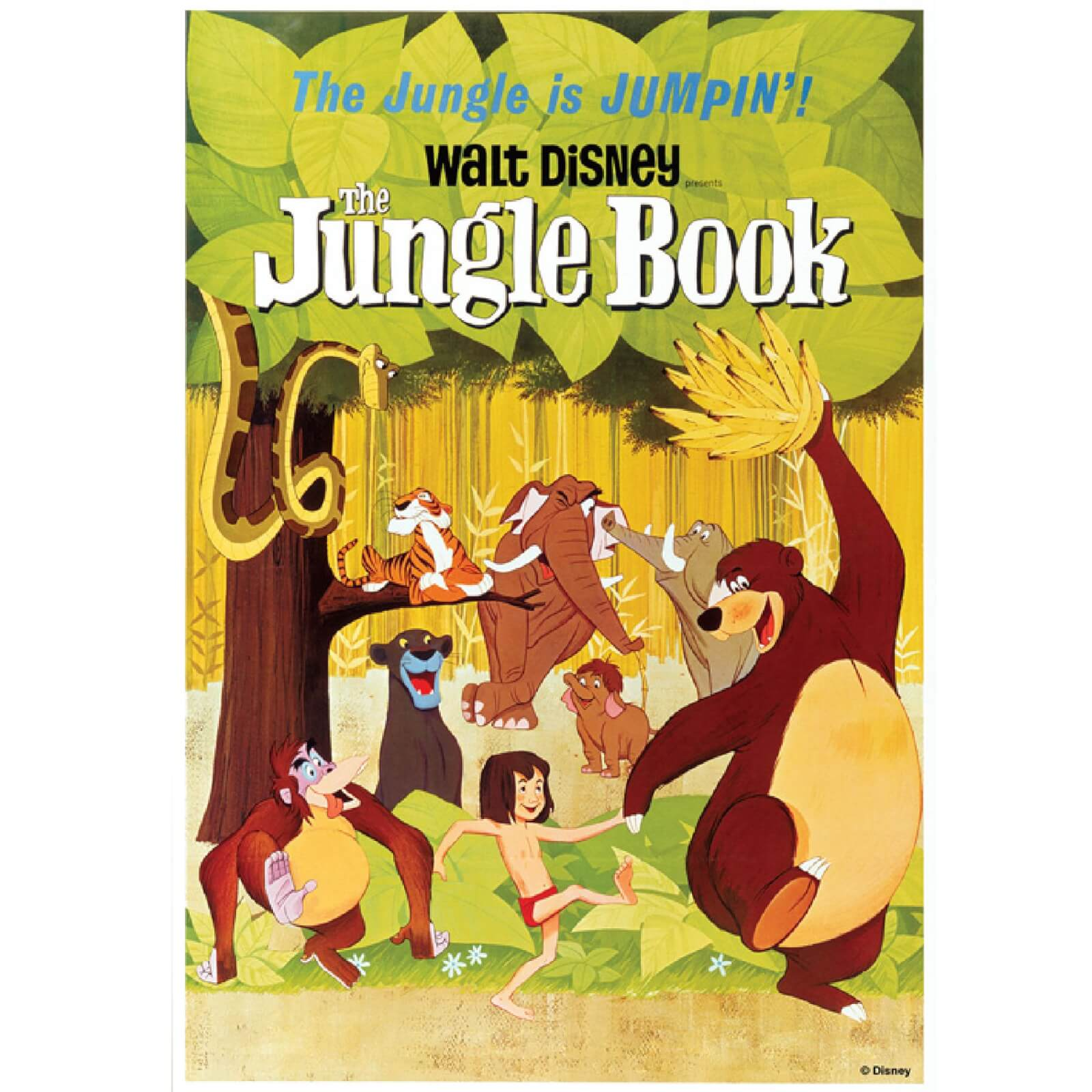 Disney Retro Vintage Jungle Book Printed Canvas Wall Art | IWOOT