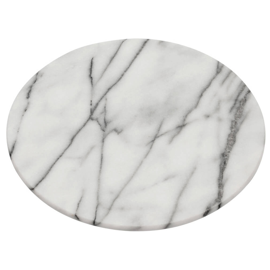 Premier Housewares Lazy Susan Chopping Board - White Marble