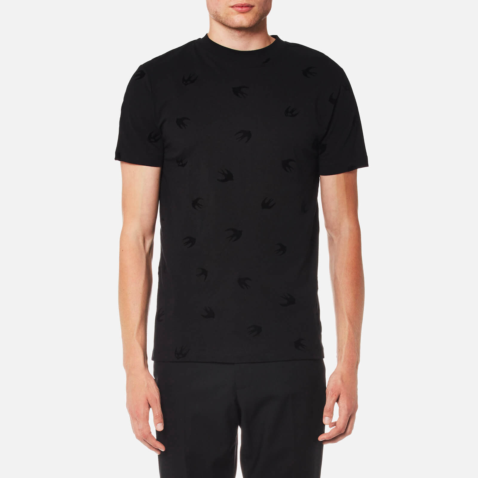 bfed26c27 McQ Alexander McQueen Men's Swallow T-Shirt - Darkest Black - Free UK  Delivery over £50