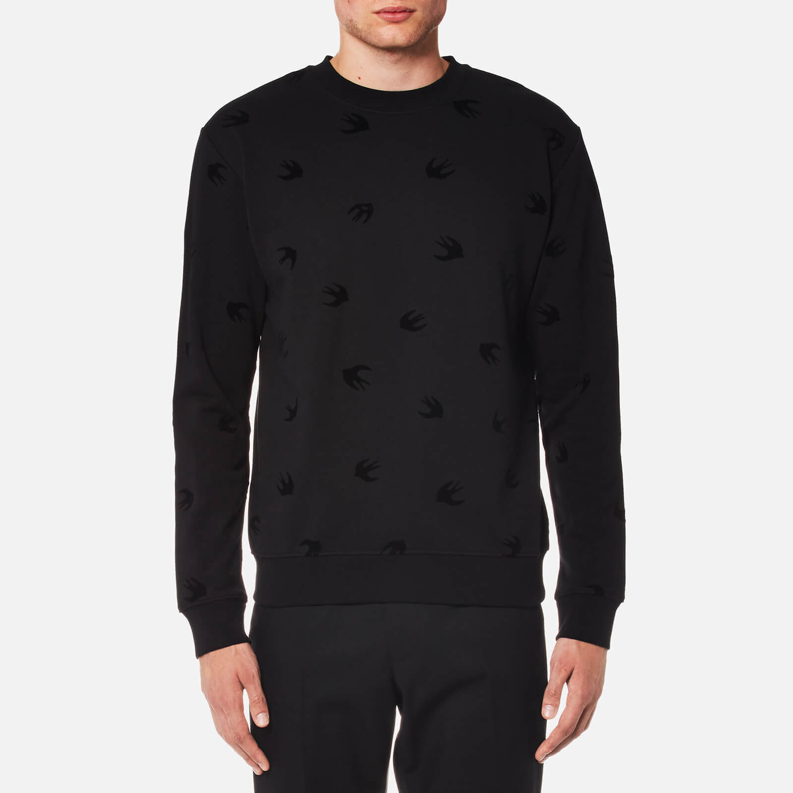3a388148fca McQ Alexander McQueen Men s Swallow Sweatshirt - Darkest Black - Free UK  Delivery over £50