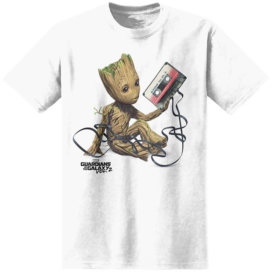 t shirt homme gardiens de la galaxie vol 2 baby groot marvel blanc merchandise. Black Bedroom Furniture Sets. Home Design Ideas