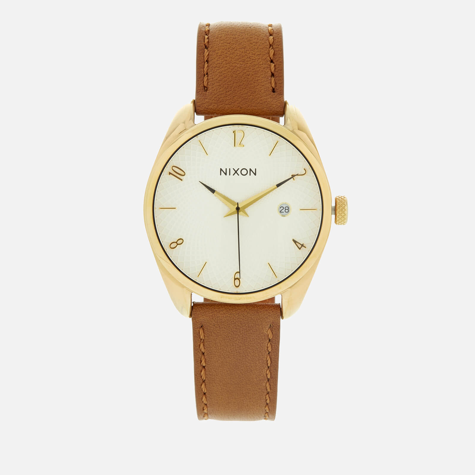 3a1950d88 Nixon Women's The Bullet Leather Watch - Gold/Saddle