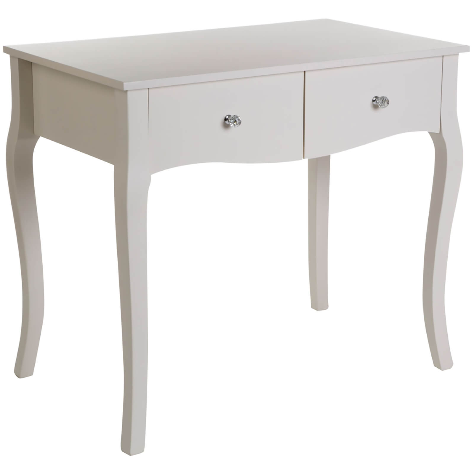 Premier Housewares Emily Kids Dressing Table - Ivory/Crystal Handles