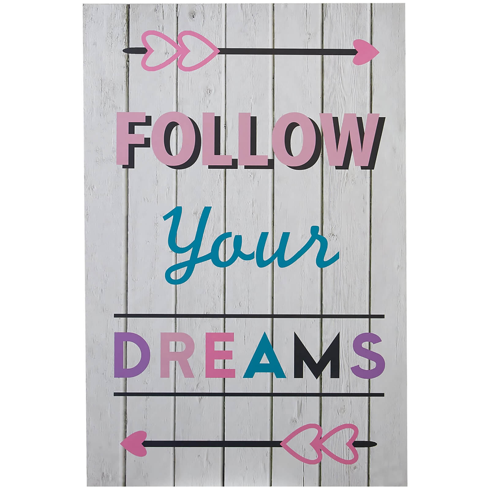 Premier Housewares Kids Follow Your Dreams Wall Plaque