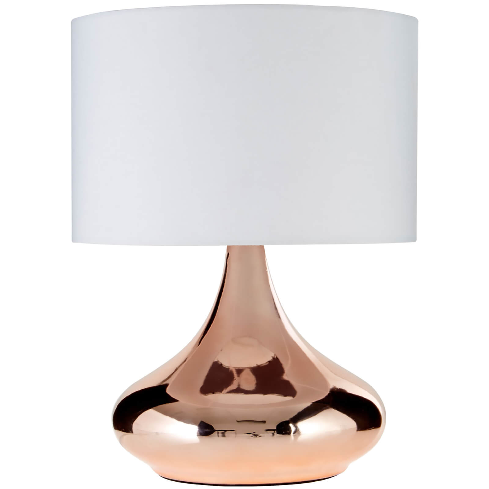 Fifty Five South Jaden Table Lamp - Copper/Ivory