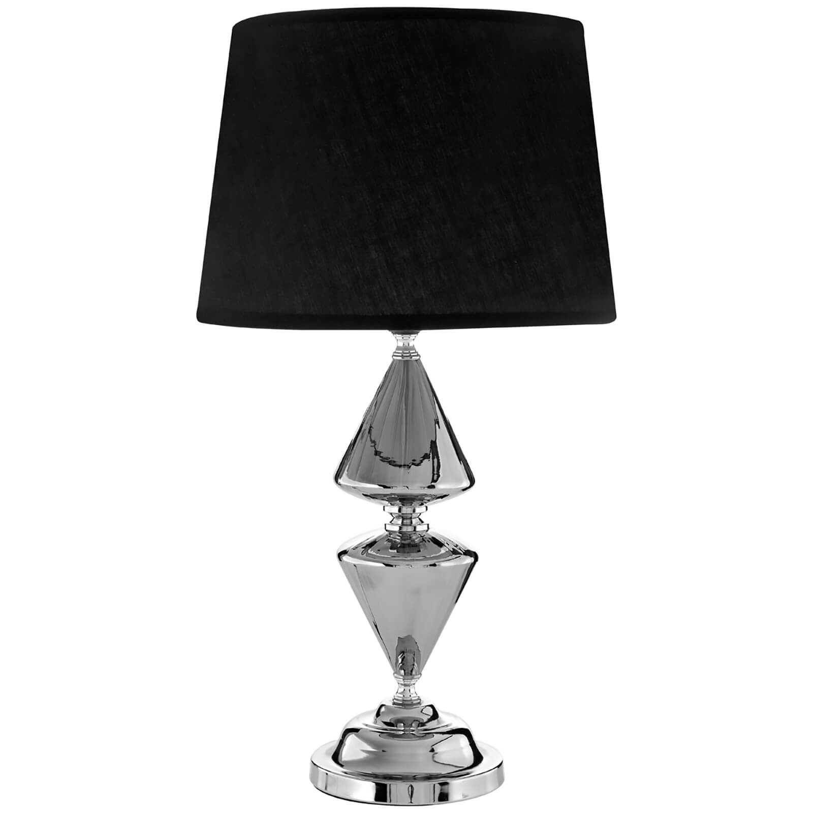 Fifty Five South Honor Glass/Metal Table Lamp - Silver/Black