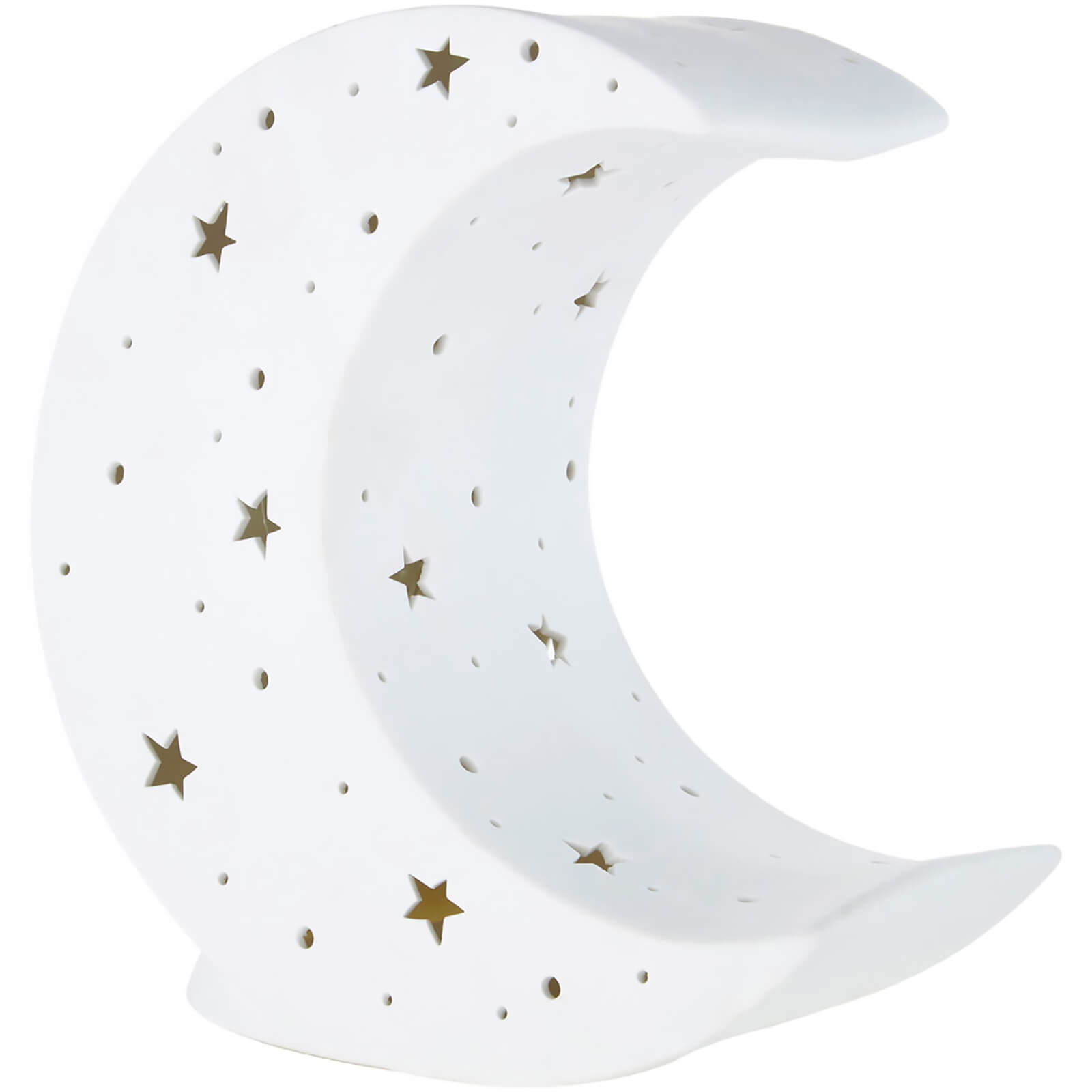 Premier Housewares Kids Moon Night Light - White Ceramic