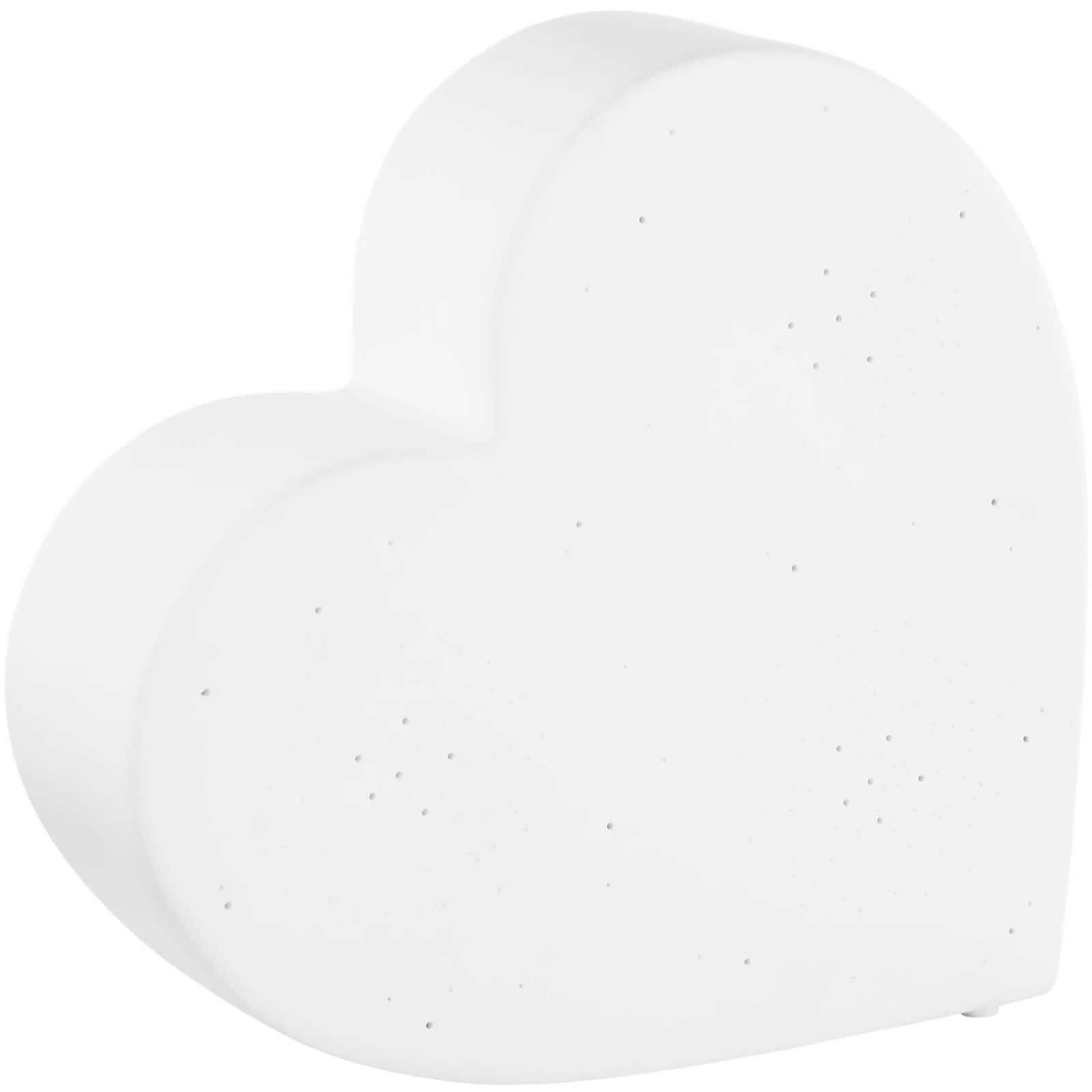 Premier Housewares Kids Heart Night Light - White Ceramic