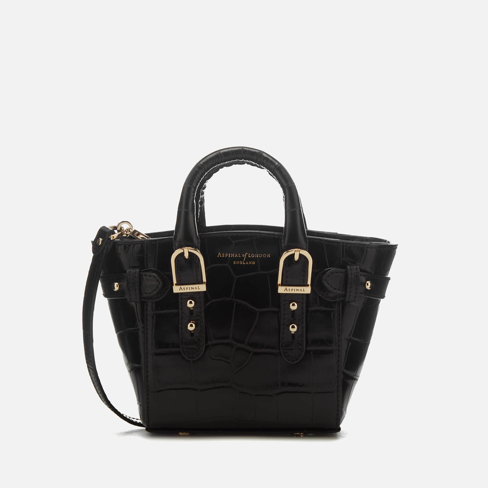 6c3f83bfd2fb0 Aspinal of London Women s Marylebone Micro Tote Bag - Black - Free UK  Delivery over £50