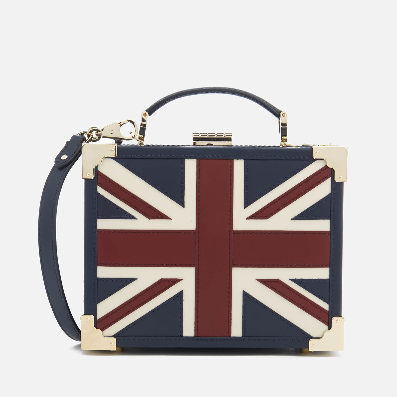 121787733 Aspinal of London Women s Mini Trunk Clutch Bag - Brit Womens Accessories