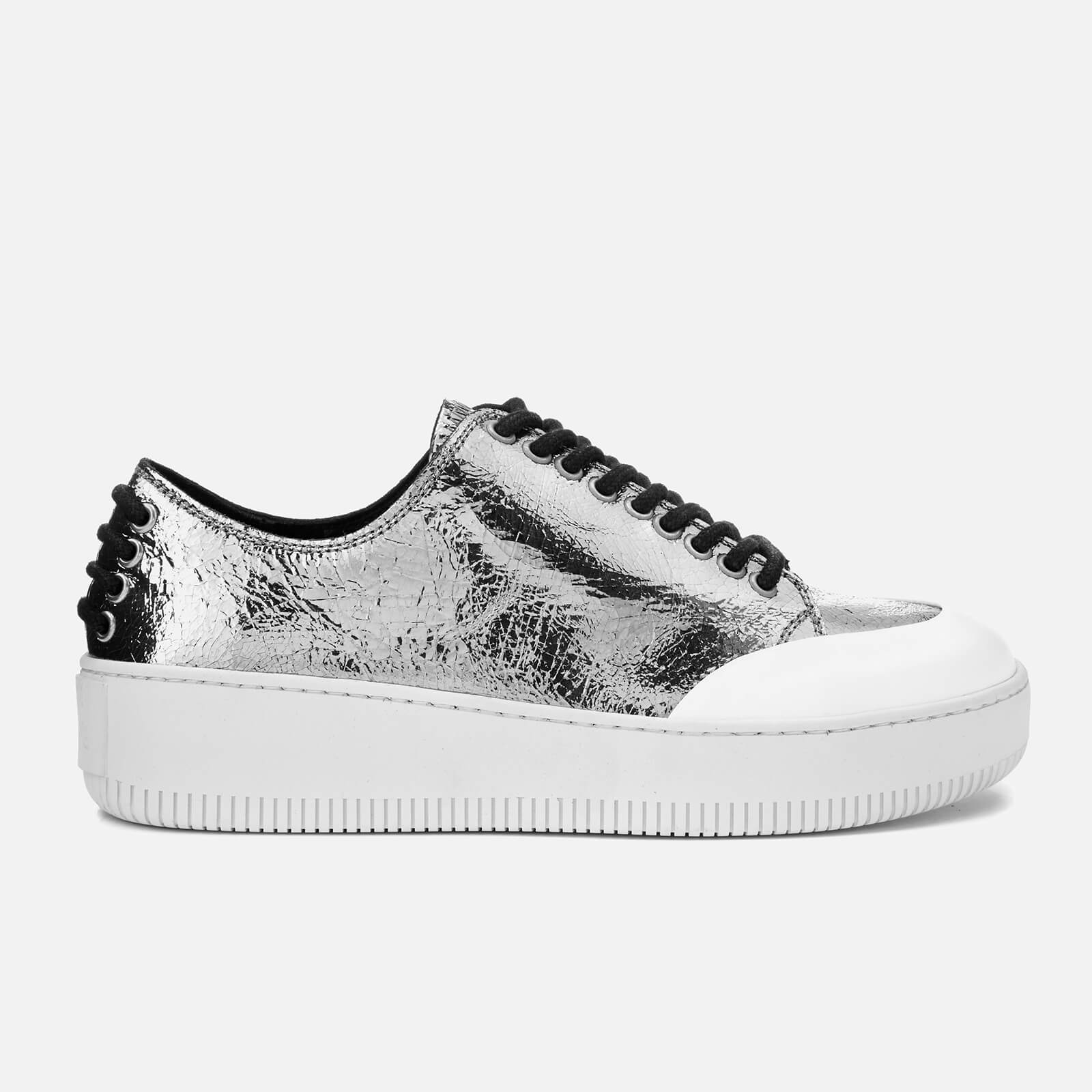 a1ae2fb90f9b McQ Alexander McQueen Women s Netil Eyelet Low Trainers - Silver - Free UK  Delivery over £50
