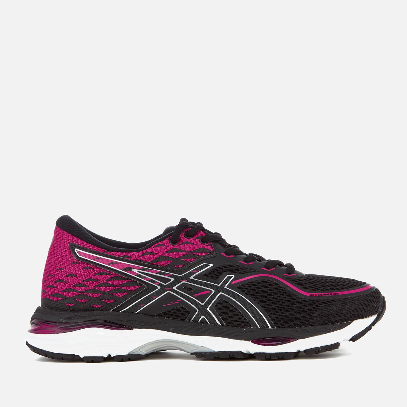 huge selection of 629c6 36206 Asics Running Women s Gel Cumulus 19 Trainers - Black Silver Pink Womens  Footwear   TheHut.com
