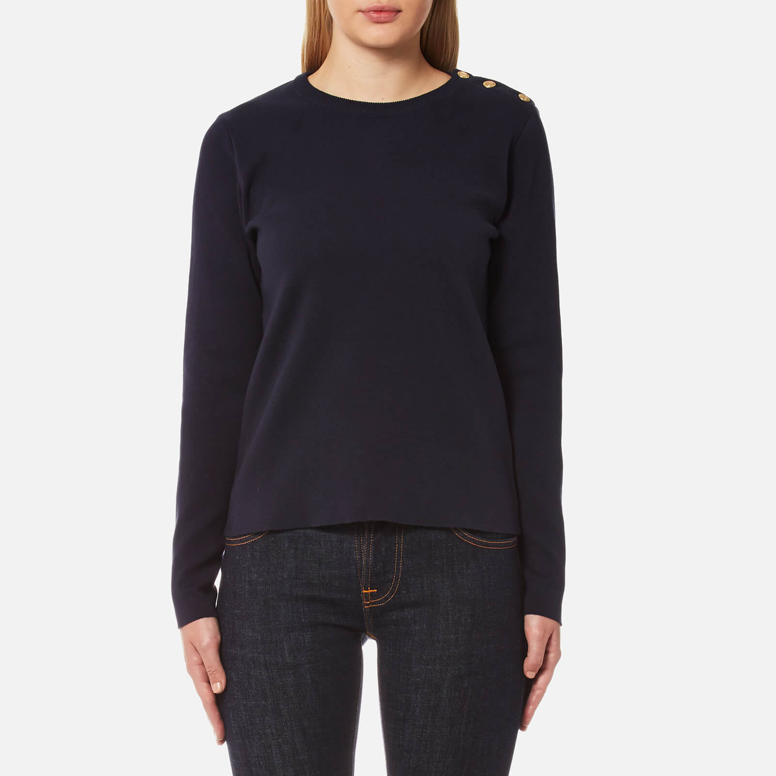 presenting look out for authentic quality GANT Women's Milano Rib Crew Neck Jumper - Evening Blue