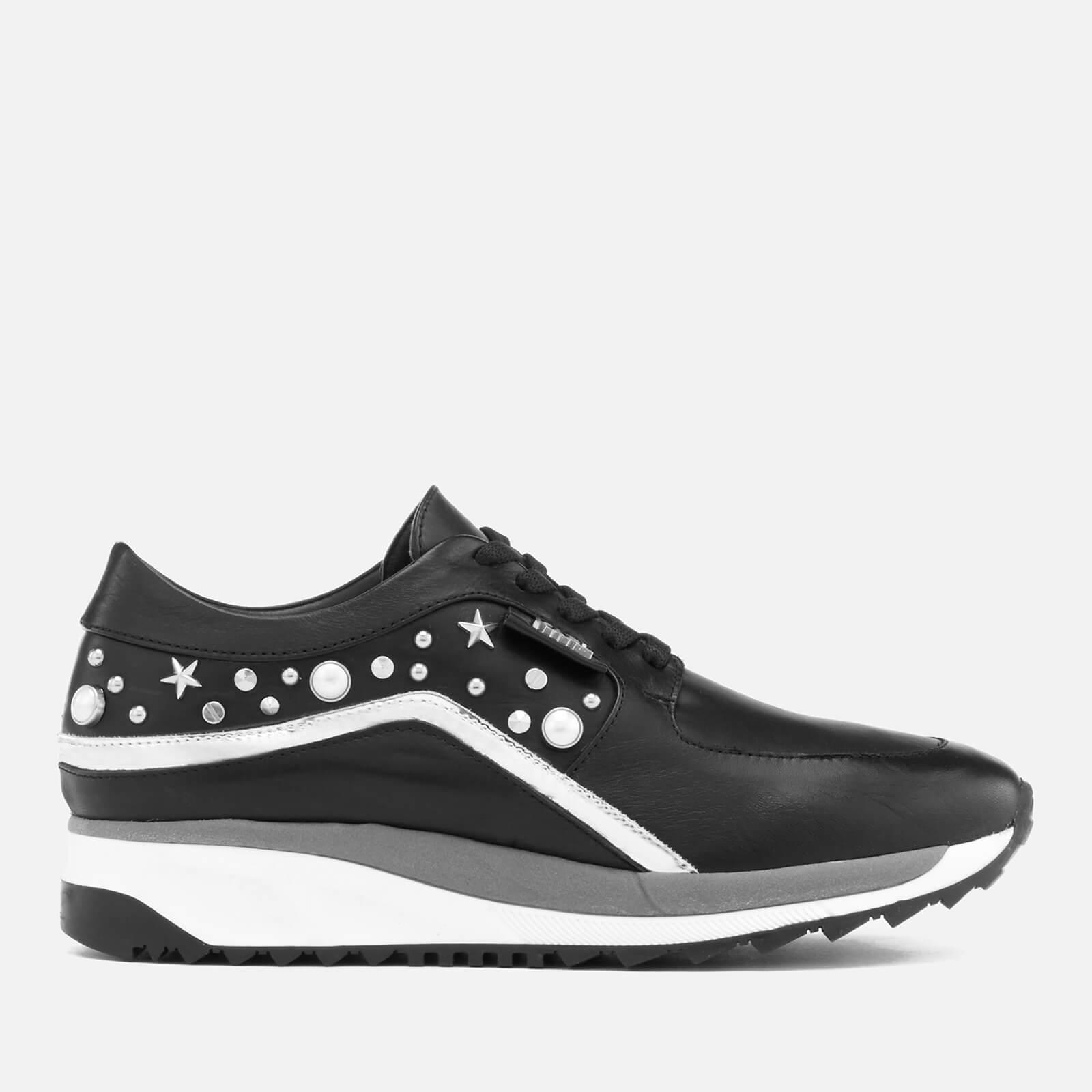 1efbf9cab ... Karl Lagerfeld Women s Vivace Leather Celestia Mix Runner Trainers -  Black