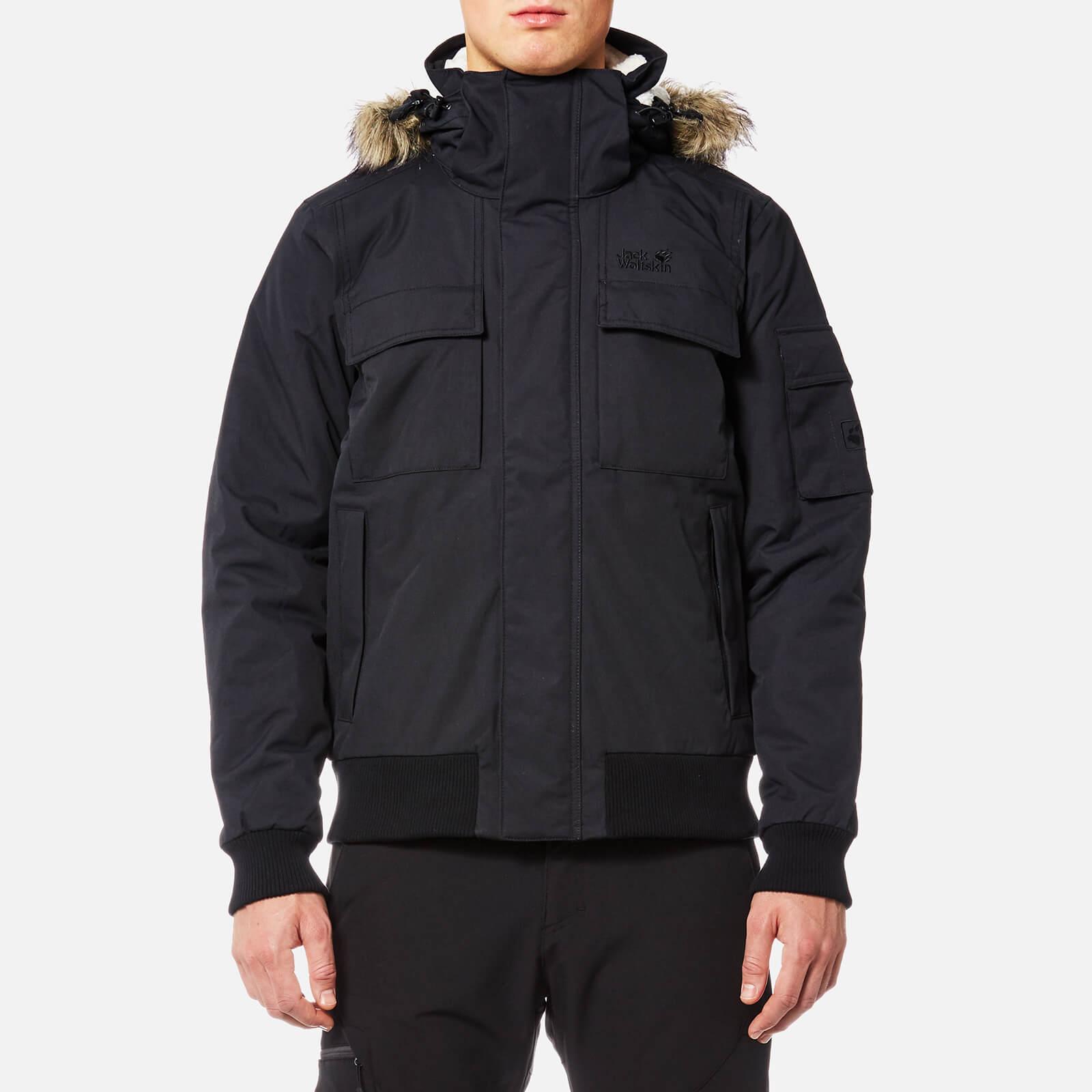 wielka wyprzedaż uk najtańszy rozsądna cena Jack Wolfskin Men's Brockton Point Jacket with Faux Fur Lined Hood - Black