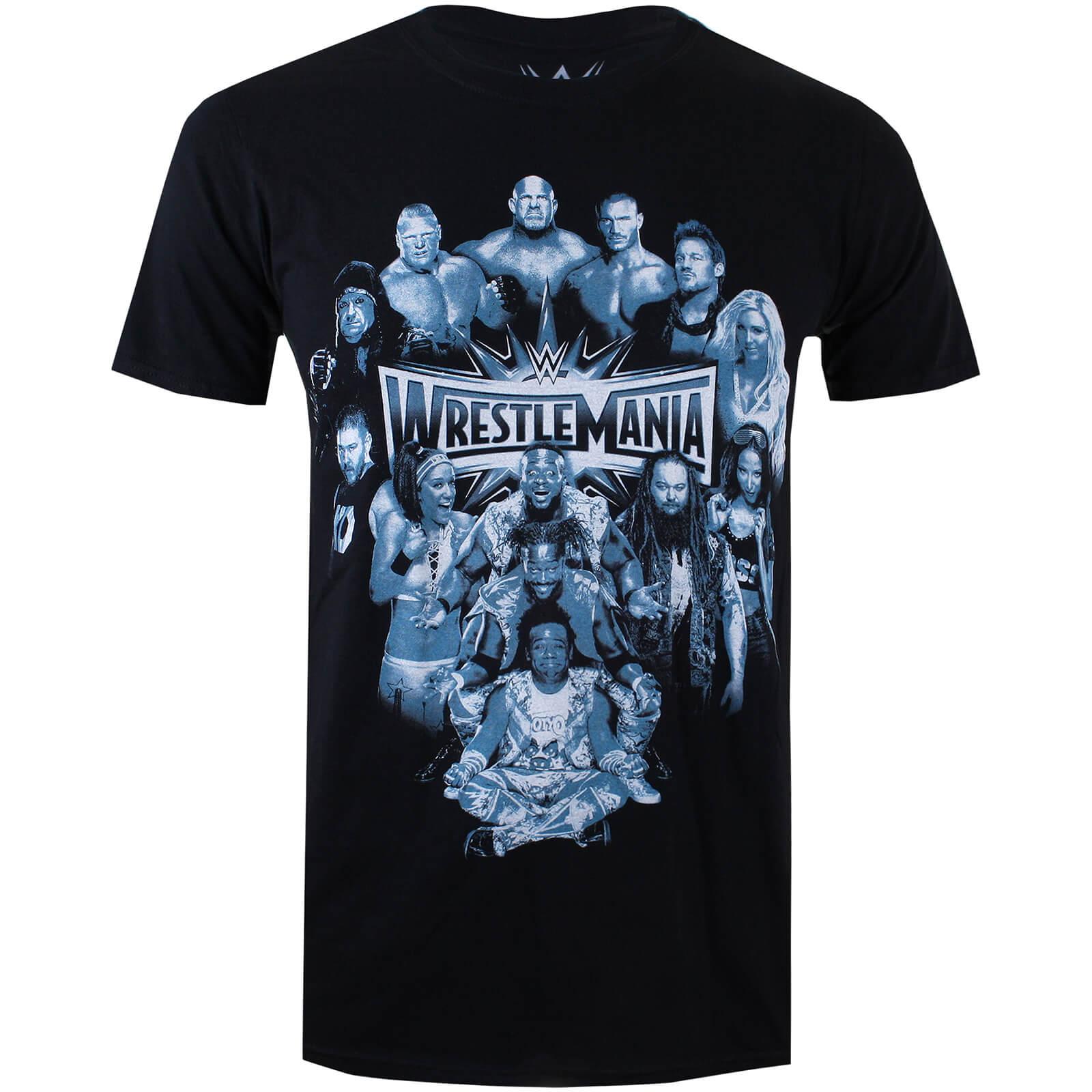 T-Shirt Homme WWE Wrestlemania Group - Noir