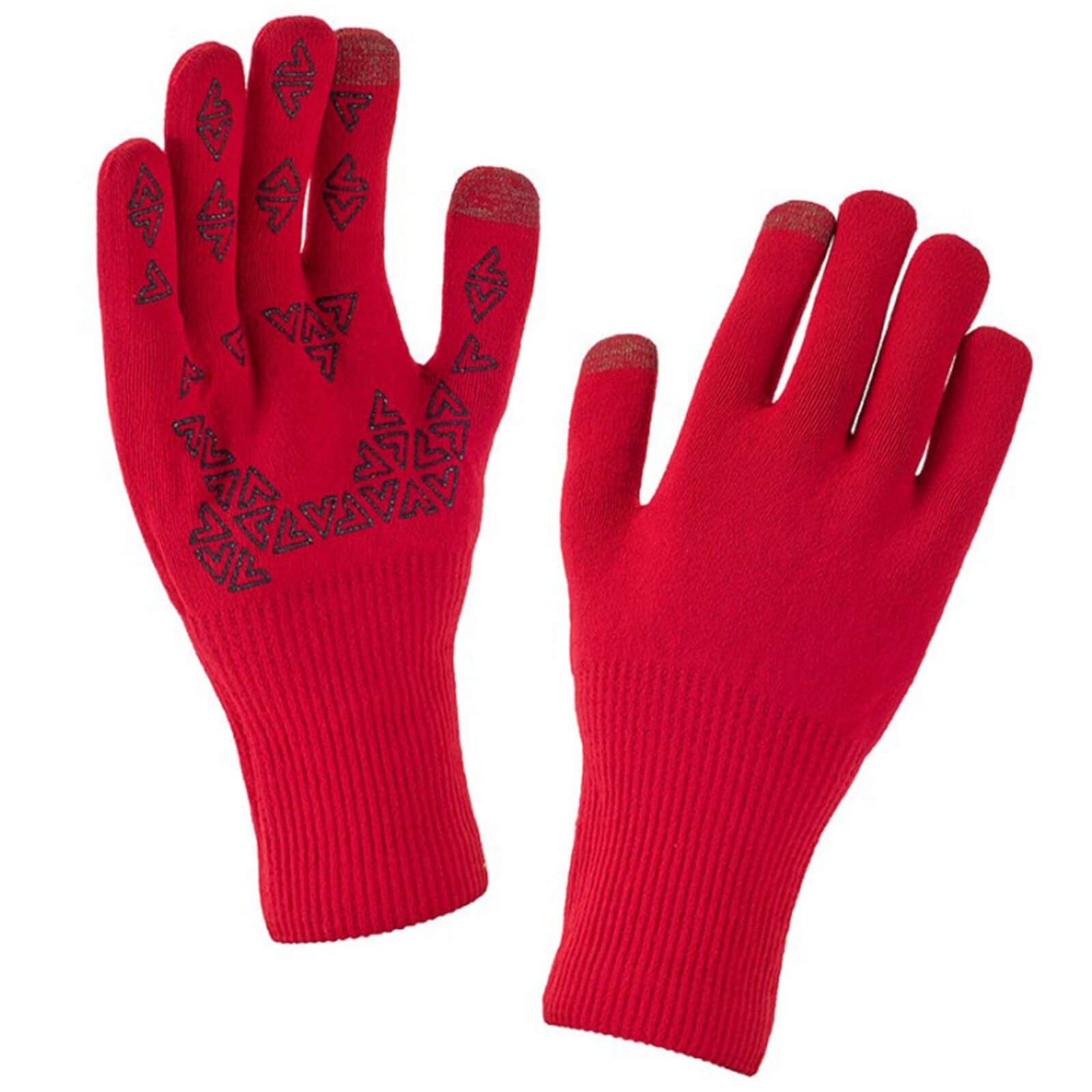 Sealskinz Ultra Grip Gloves - Red/Black