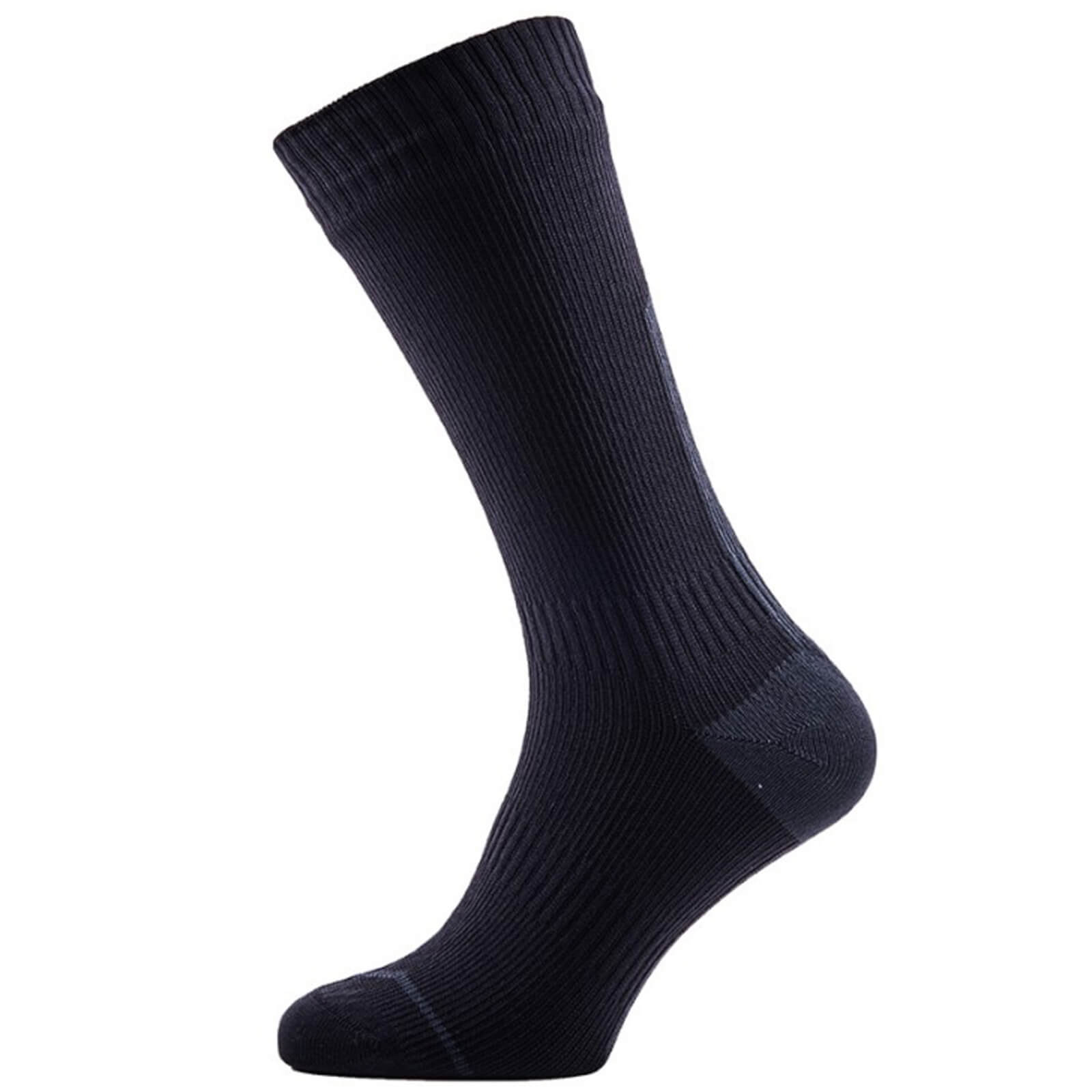 Sealskinz Road Thin Mid Socks with Hydrostop - Black/Yellow - XL