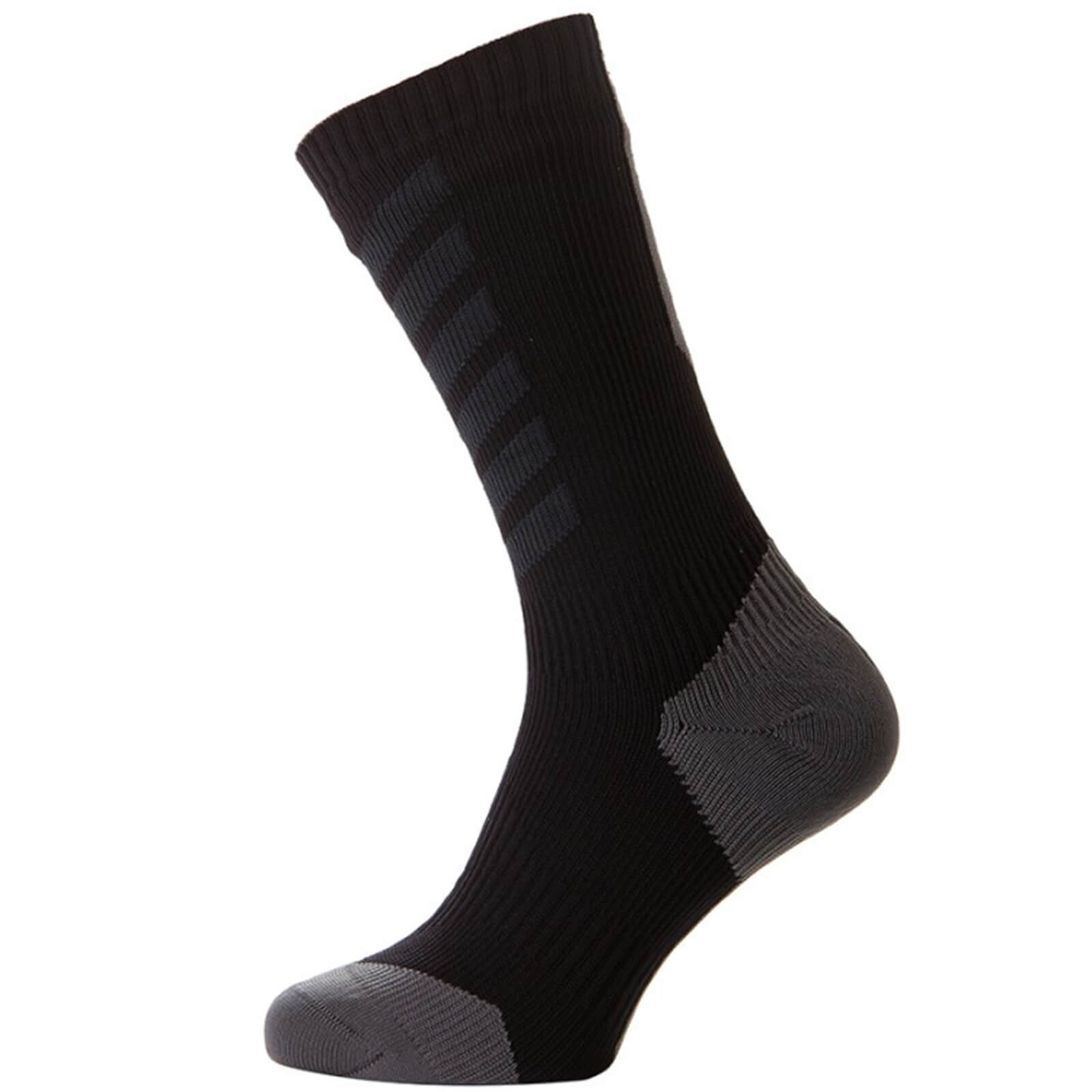 Sealskinz MTB Thin Mid Socks with Hydrostop - Black/Anthracite