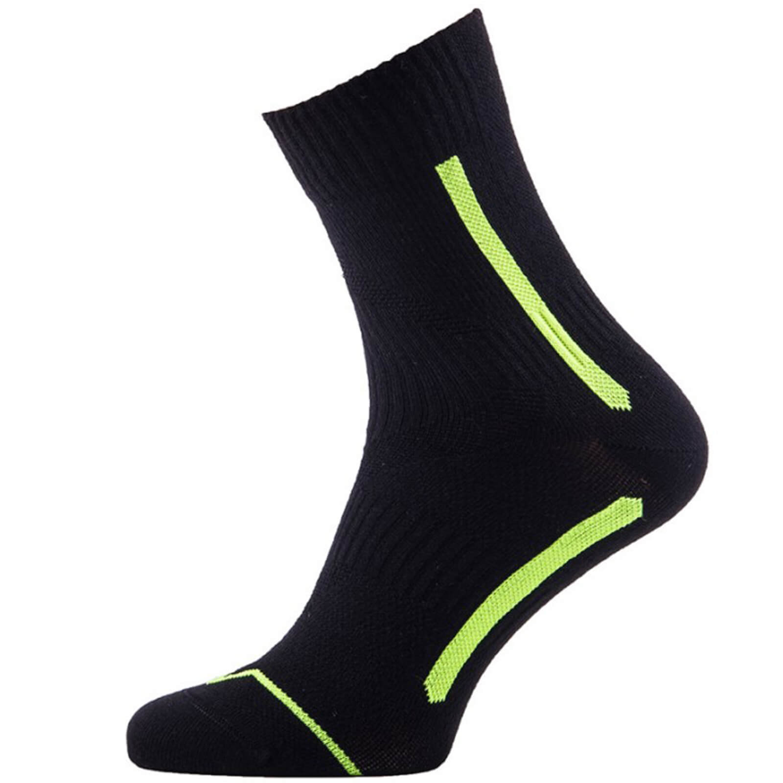Sealskinz Road Max Ankle Socks - Black/Yellow