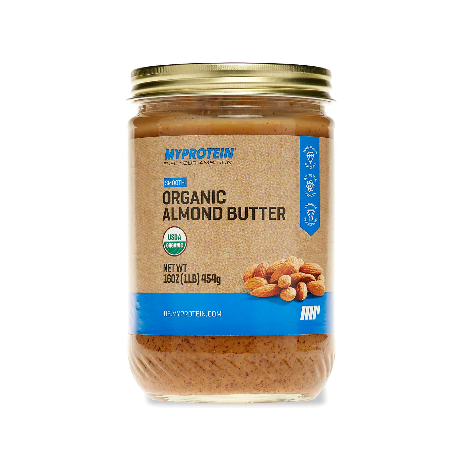 Organic Almond Butter - Smooth - 16 Oz (USA)