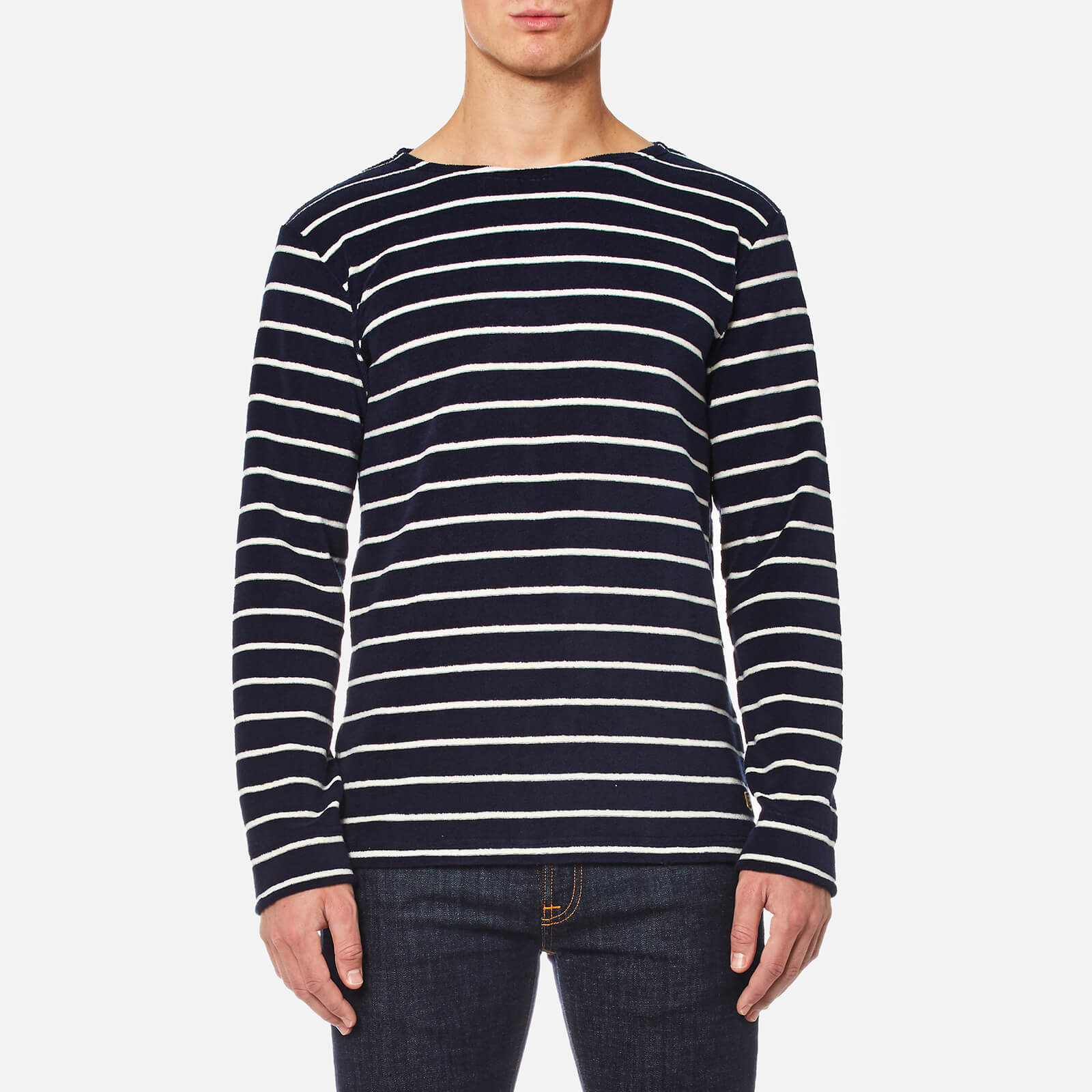 a43effbf7766e4 Armor Lux Men's Towelling Long Sleeve Stripe Top - Seal Nature - Free UK  Delivery over £50
