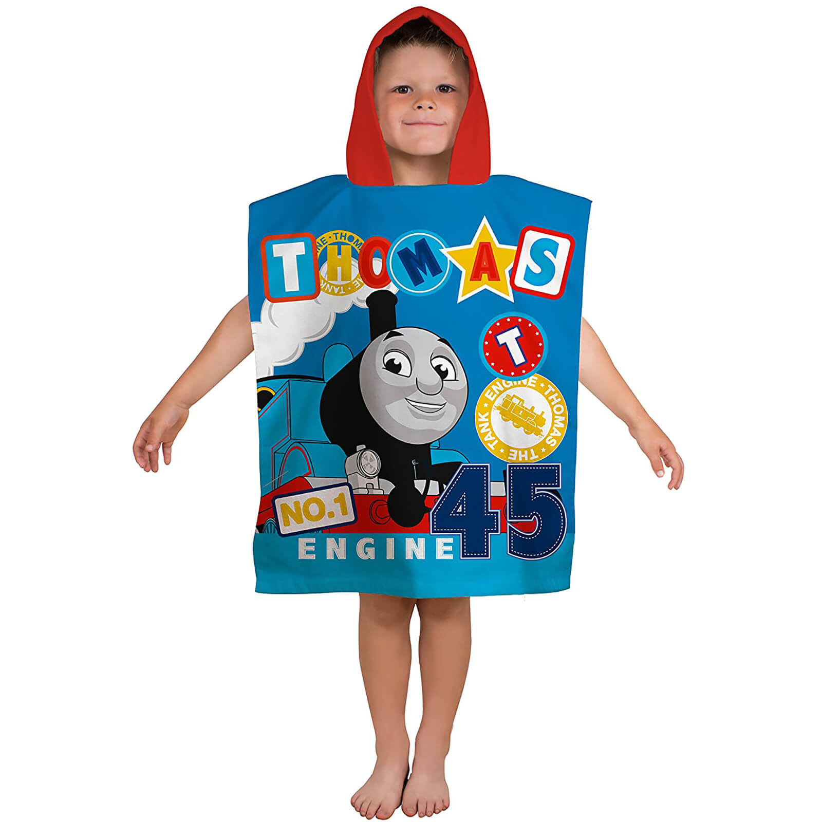 Thomas and Friends Patch Poncho Towel