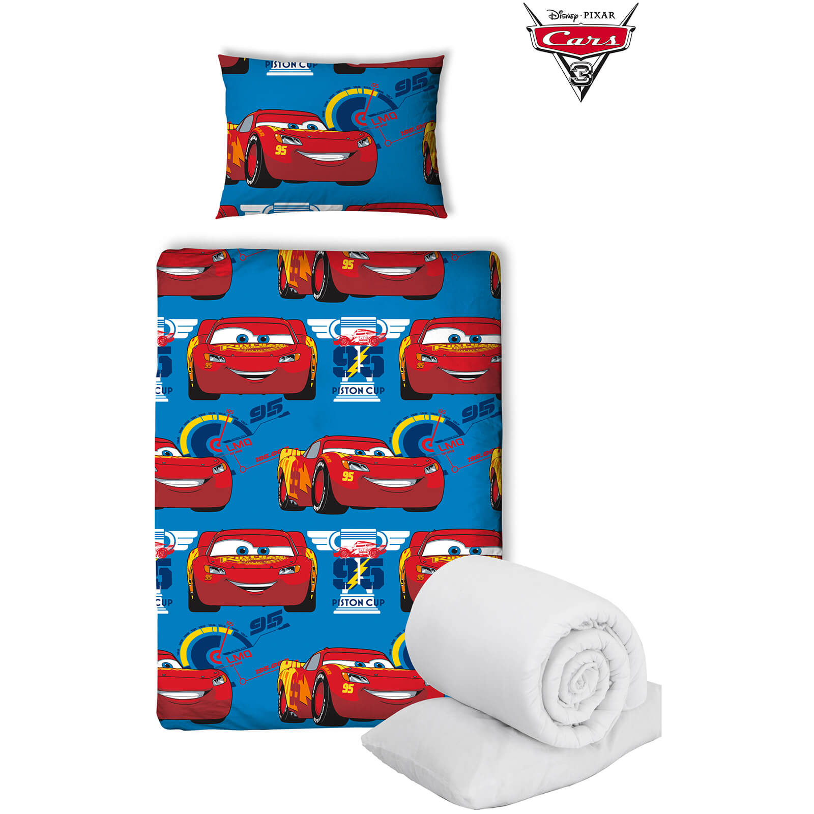 Disney Cars 3 Winner Bed Bundle - Junior
