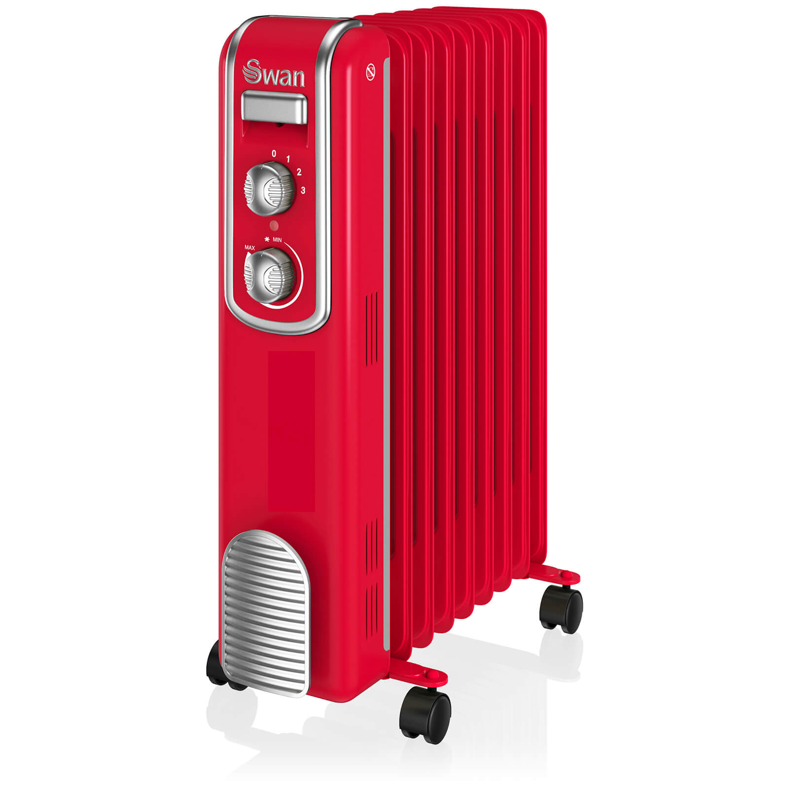 Swan SH60010RN 9 Finned Oil Filled Radiator - Red
