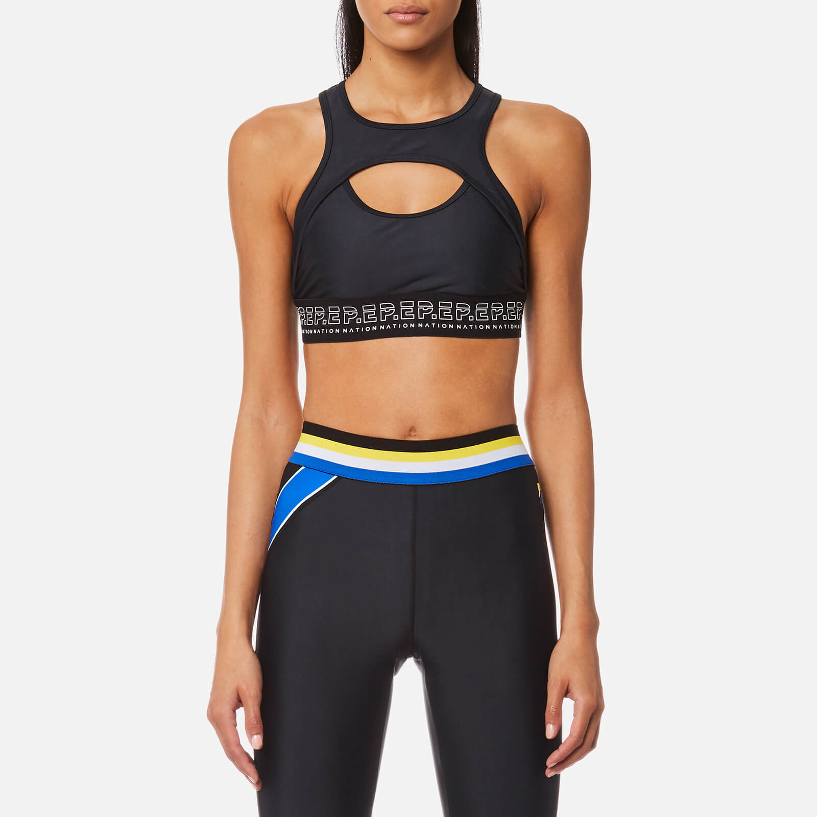 a0ba0f14239577 P.E Nation Women s Fall Line Crop Top - Black - Free UK Delivery over £50