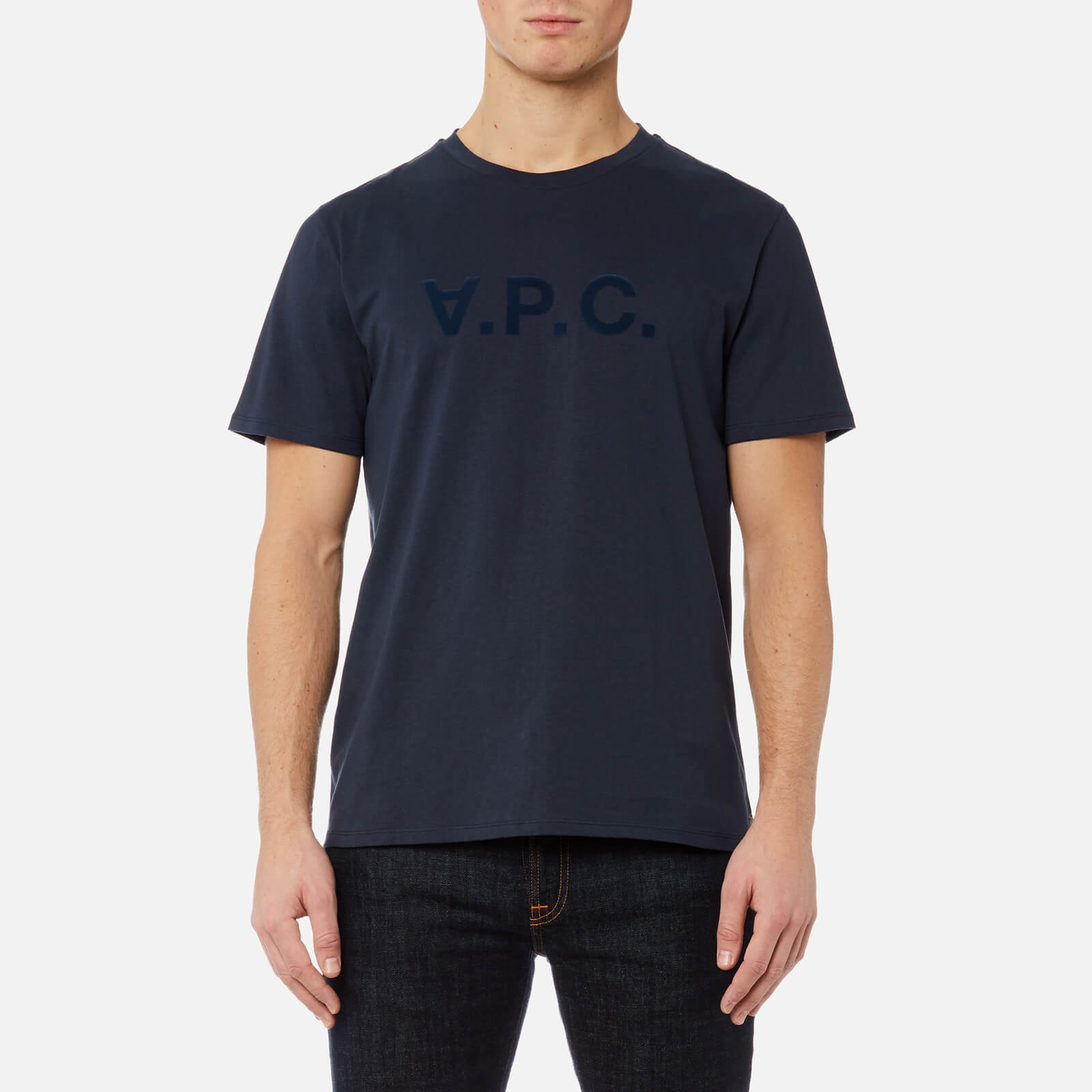 ca61f155f864 A.P.C. Men's VPC T-Shirt - Dark Navy - Free UK Delivery over £50