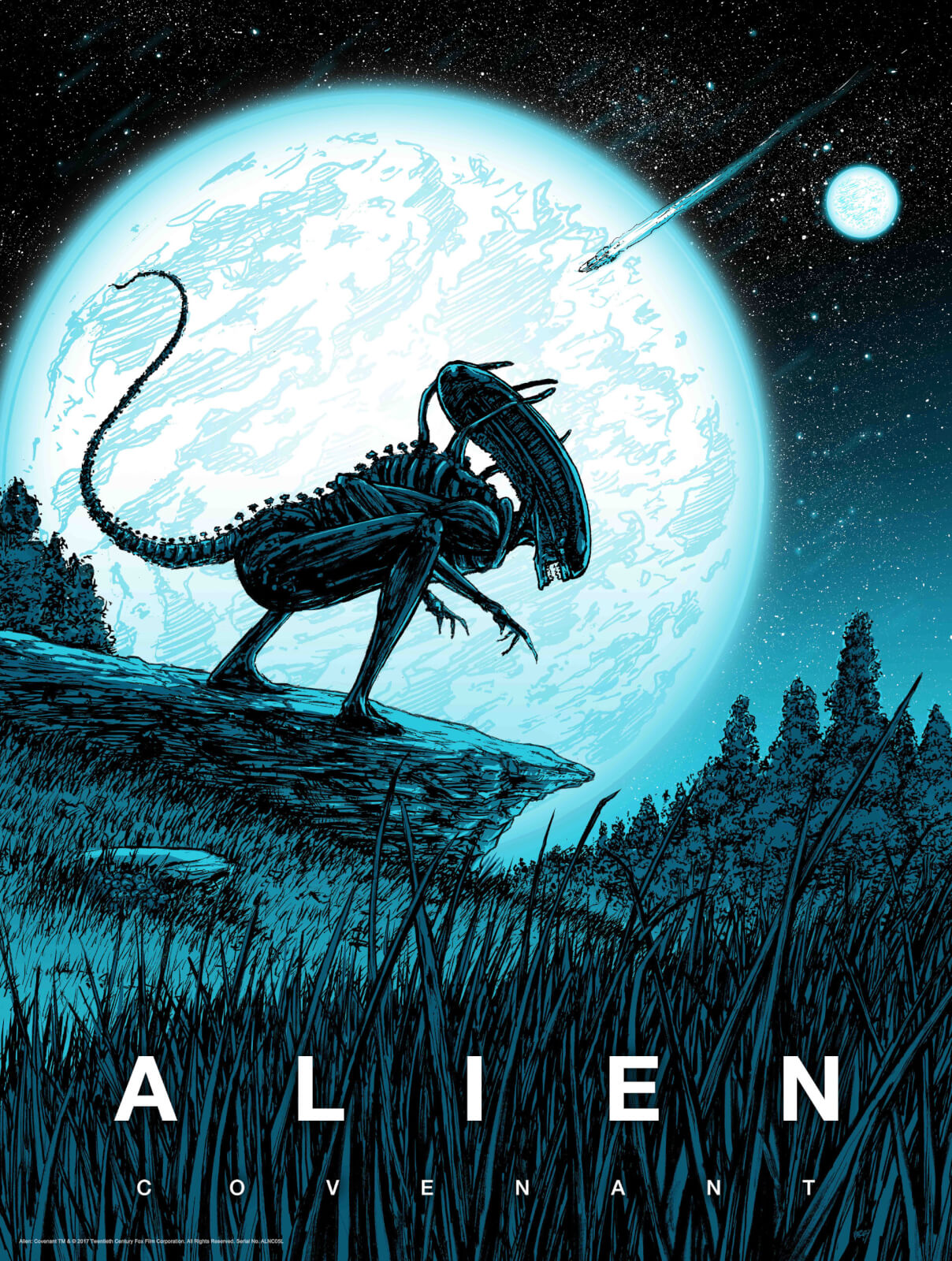 Alien Covenant By Barry Blankenship With A Glow-In-The-Dark Layer - Zavvi Exclusive Limited Edition