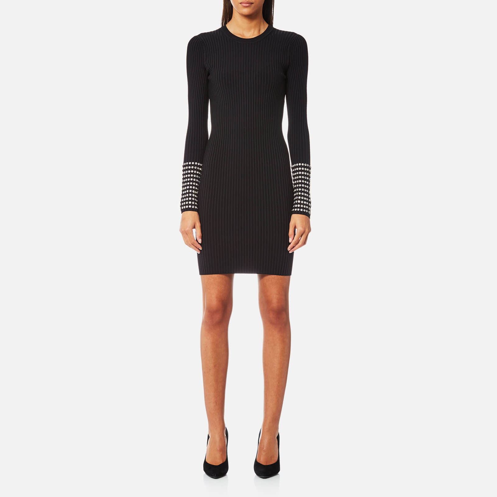f862c0f893568 Alexander Wang Women's Long Sleeve Dress with Crystal Cuff Detail - Black -  Free UK Delivery over £50
