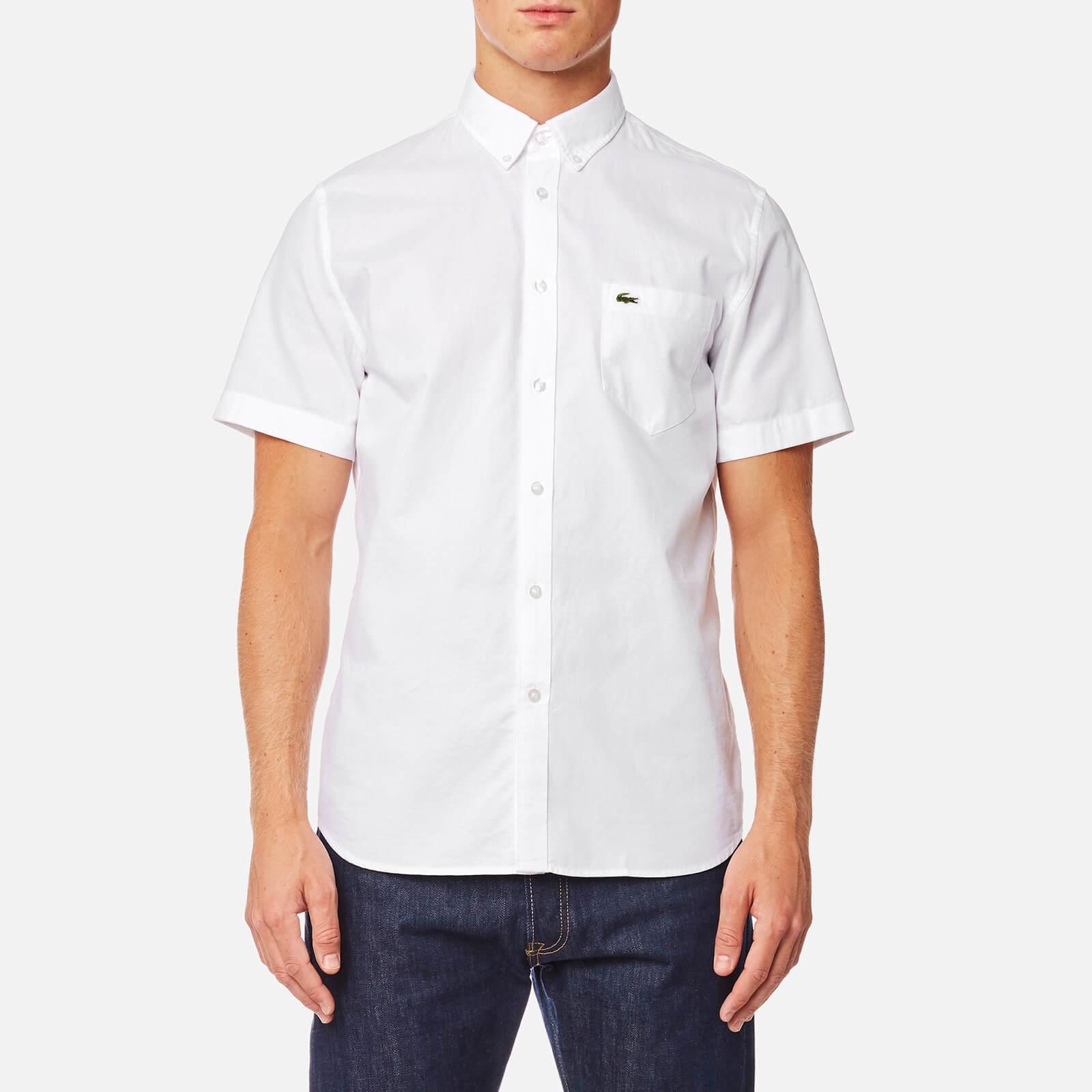 b6b078489 Lacoste Men s Short Sleeve Shirt - White White - Free UK Delivery over £50