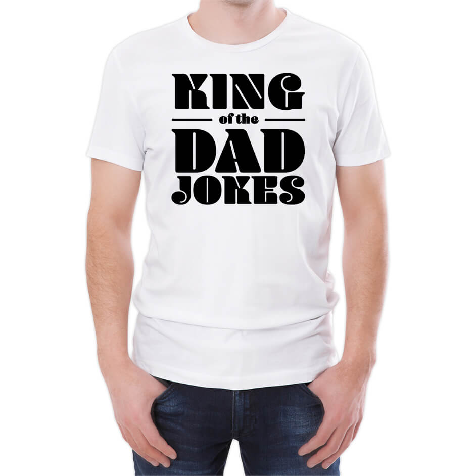 Camiseta King Of The Dad Jokes - Hombre - Blanco
