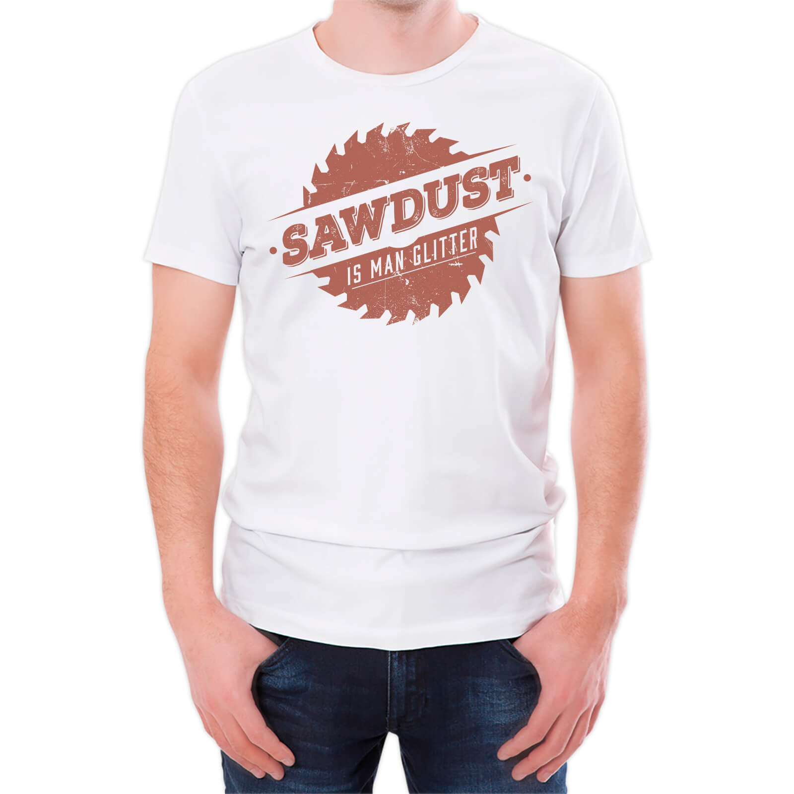 399c1cce981 Sawdust Is Man Glitter Men s White T-Shirt Clothing