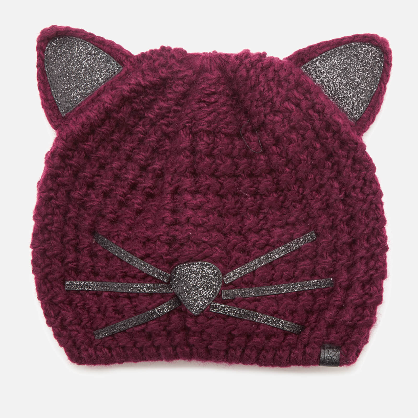 1b36029ec89 Karl Lagerfeld Women s Choupette Luxury Beanie - Fig - Free UK Delivery  over £50